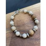 Colleen Hirsh Colleen Hirsh #136 White Turquoise & bead bracelet