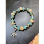 Colleen Hirsh Colleen Hirsh #139 Sterling silver sanibel & bead starfish bracelet
