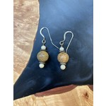 Colleen Hirsh Colleen Hirsh #135 Beaded with White Turquoise earrings