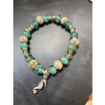 Colleen Hirsh Colleen Hirsh #138 Sterling silver sanibel & bead sea horse bracelet