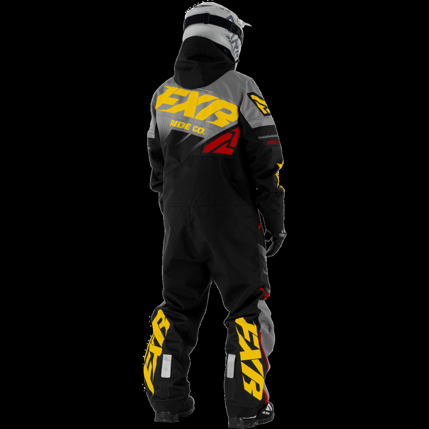 FXR M CX F.A.S.T. INS Monosuit- BLK/CHAR/GOLD/RUST - XL