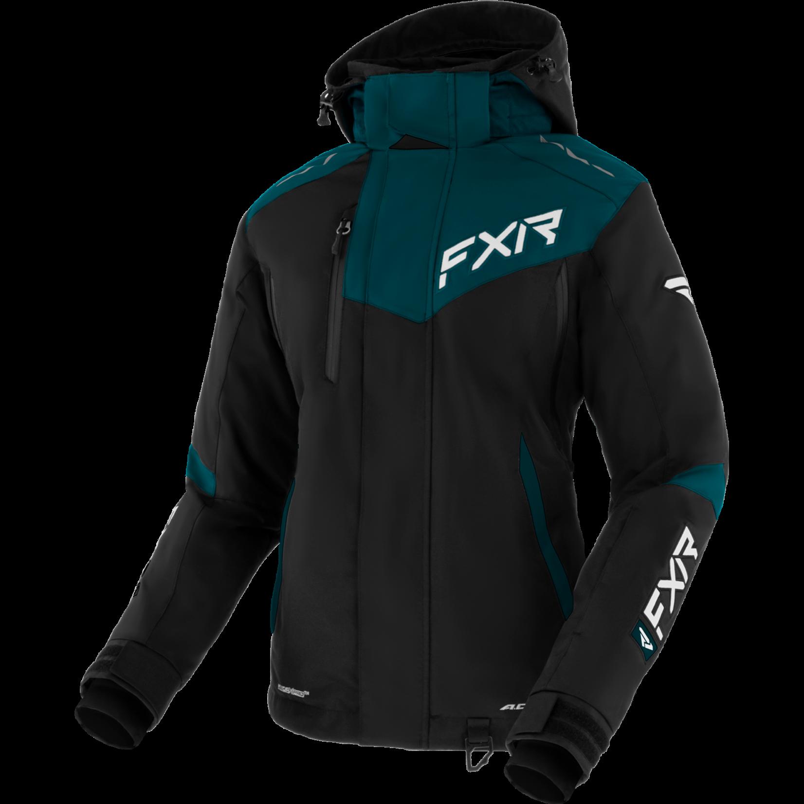 FXR W Edge Jacket - BLK/OCEAN/WHT - 8