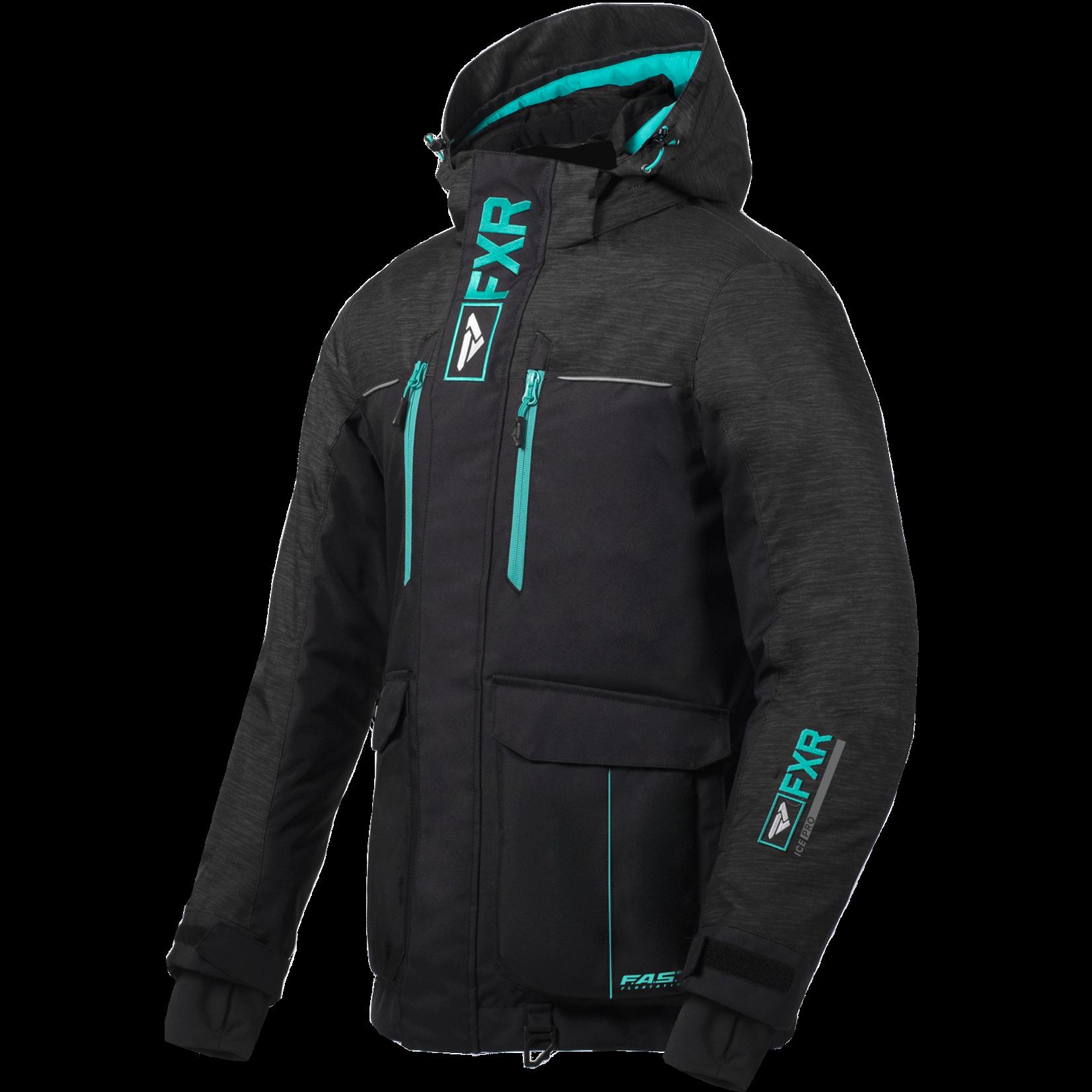 FXR W Excursion Ice Pro Jacket - BLK/CHAR/MINT - 14