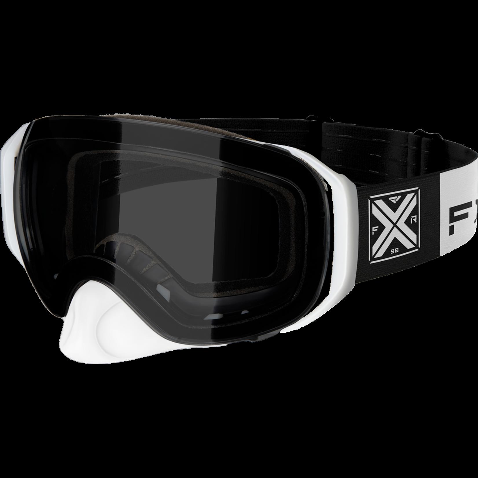 FXR Summit Spherical Goggle - Black/WHITE - OS