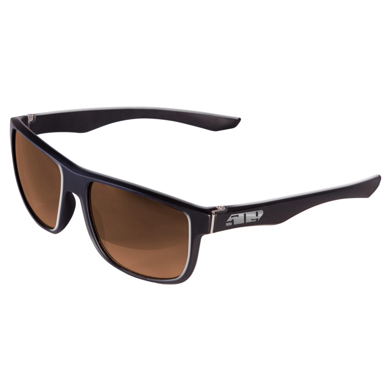 509 Riverside Sunglasses - Gloss Black (Polarized Bronze Mirror)