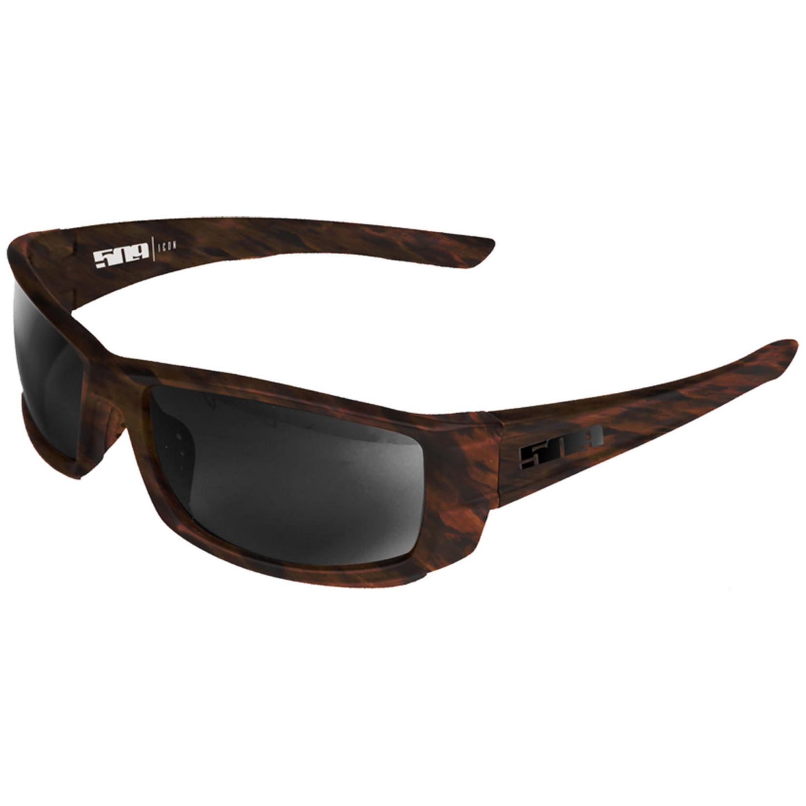 509 Icon Sunglasses (Matte Tortoise (Polarized Smoke)