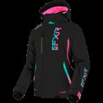 FXR FXR Women's Evo FX Jacket - Black/Mint/Pink