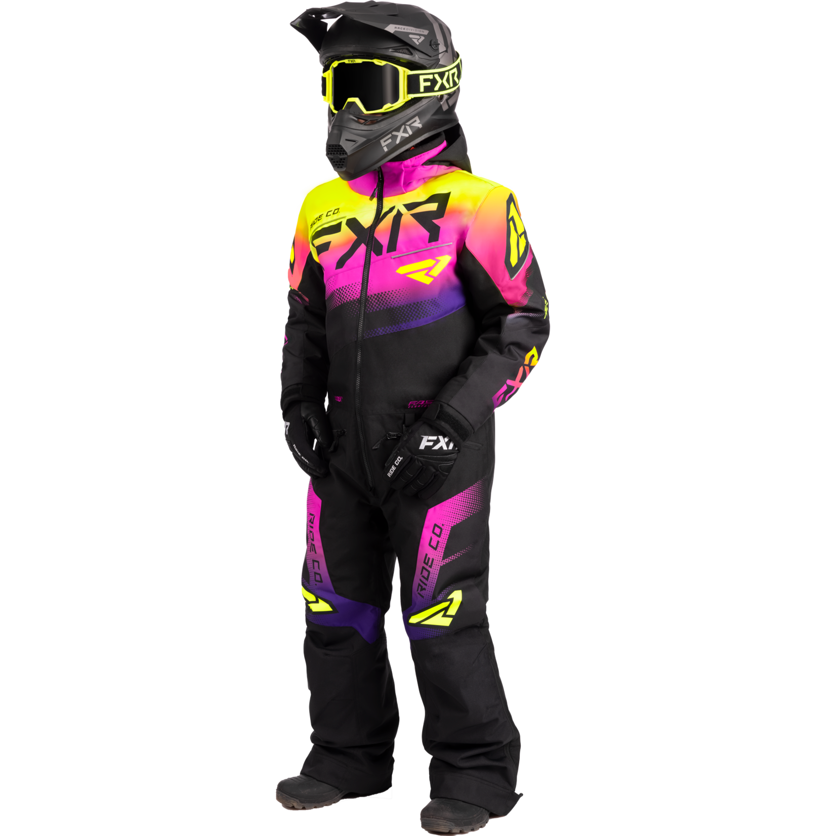 FXR FXR Youth Boost Monosuit Black/Neon Fusion