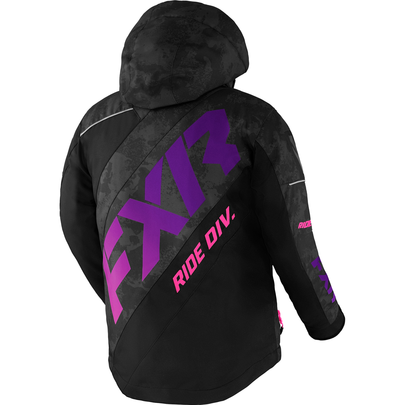 FXR FXR Youth CX Jacket - Black Camo/Purple Fade