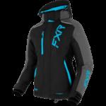 FXR FXR Women's Pulse Jacket - Black/Mid Grey Heather/Sky Blue