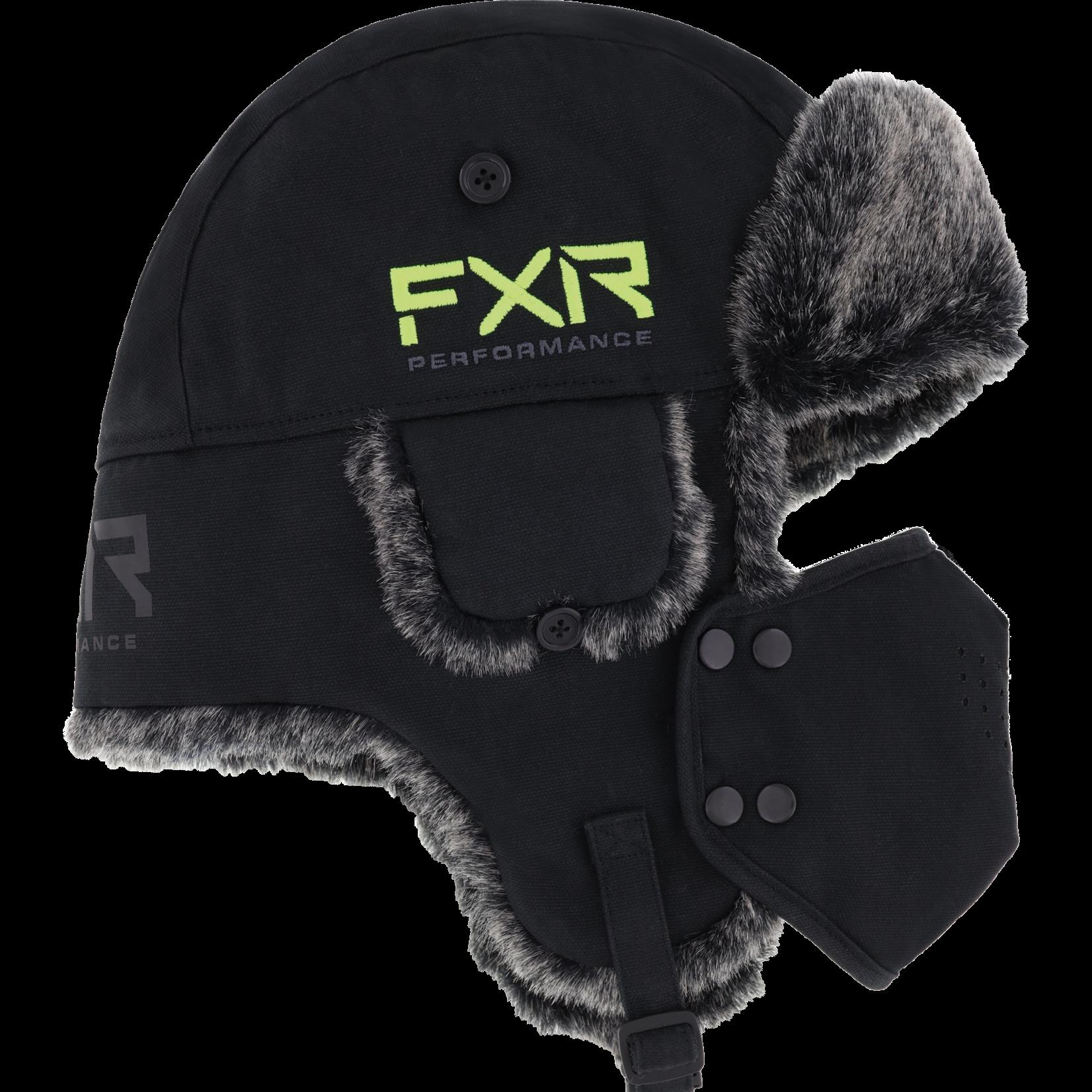 FXR FXR Trapper Hat - Black/Hi-Vis