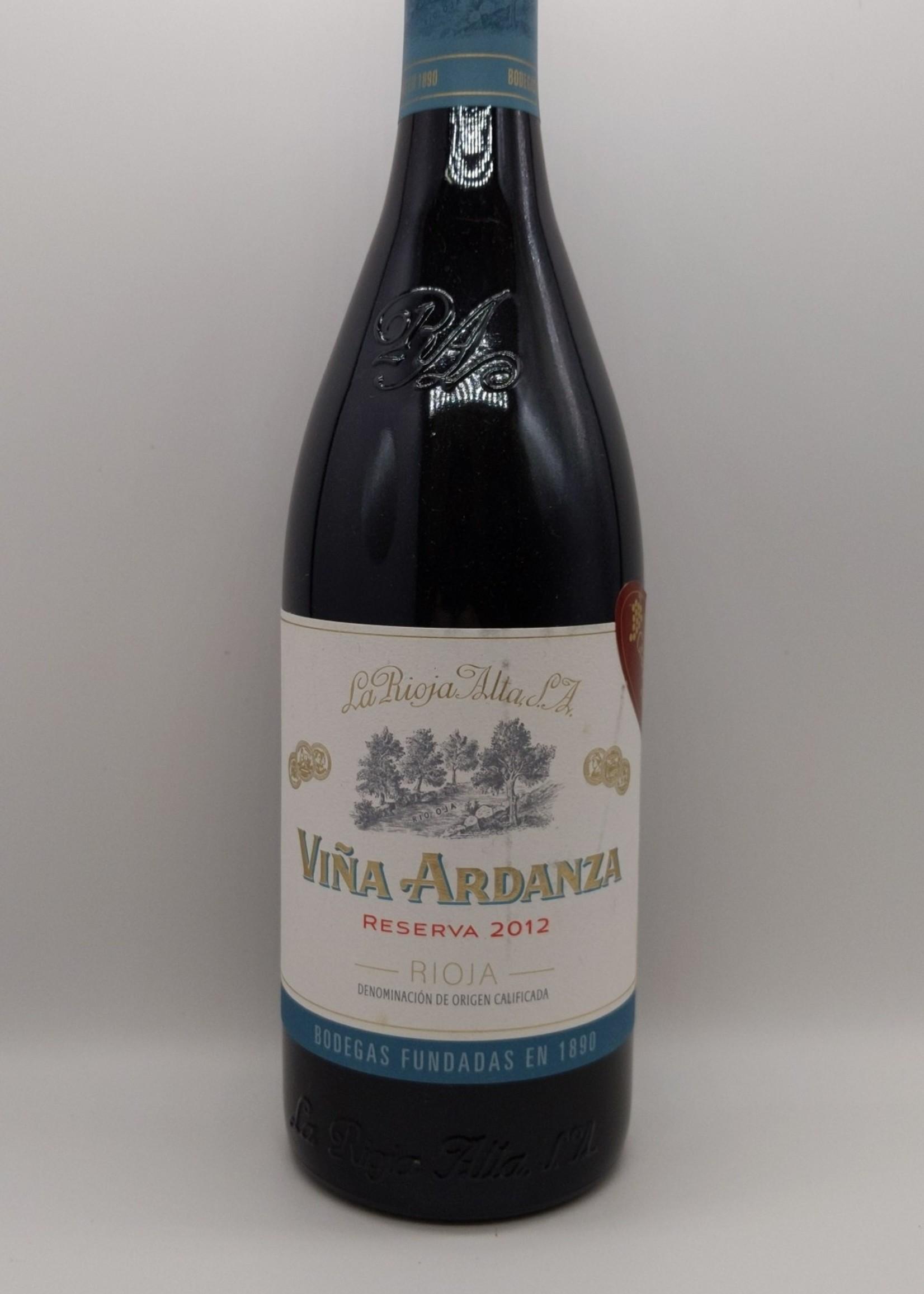 2012 LA RIOJA ALTA VINA ARDANZA 750ml