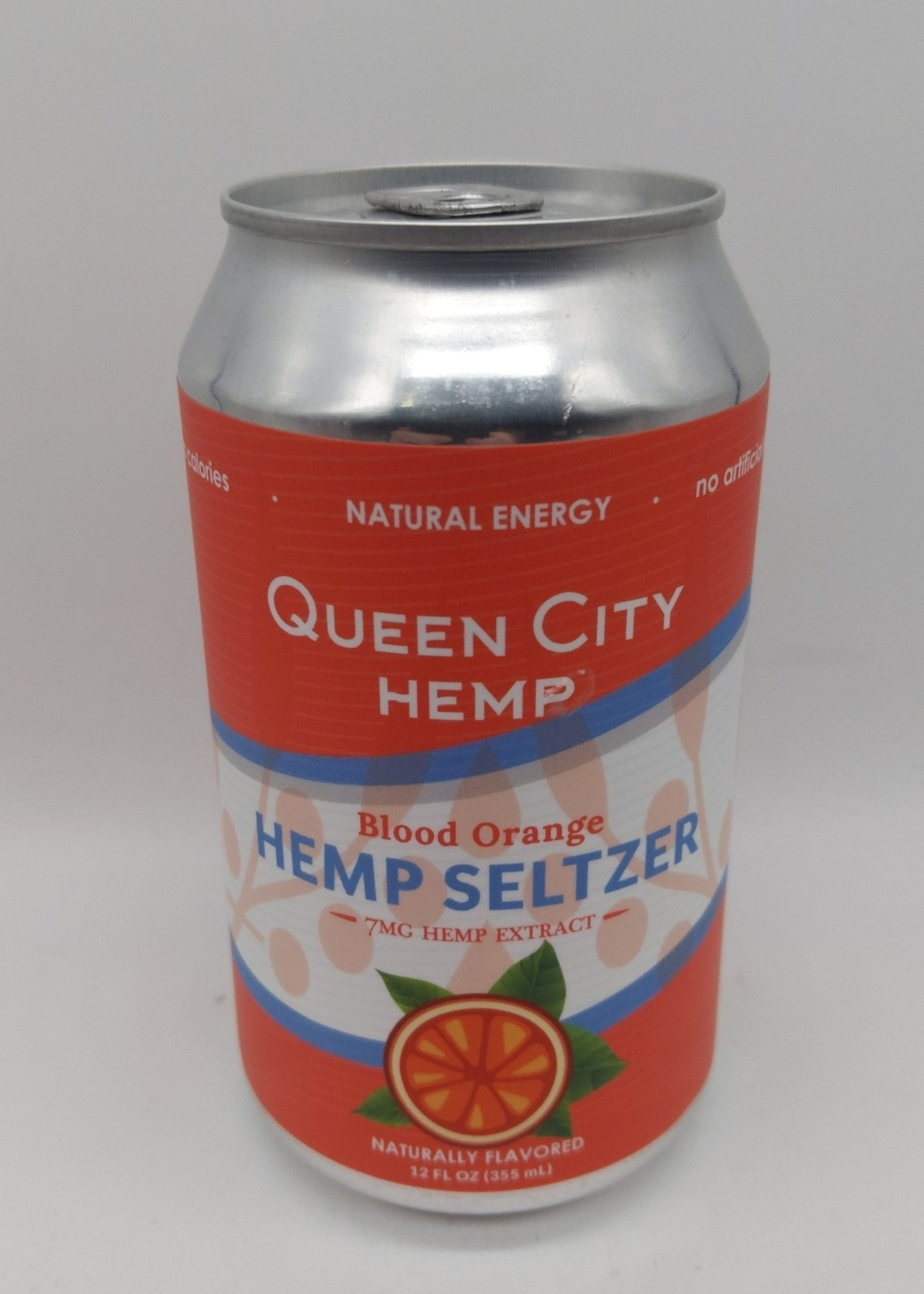 QUEEN CITY HEMP SELTZER BLOOD ORANGE 12 oz