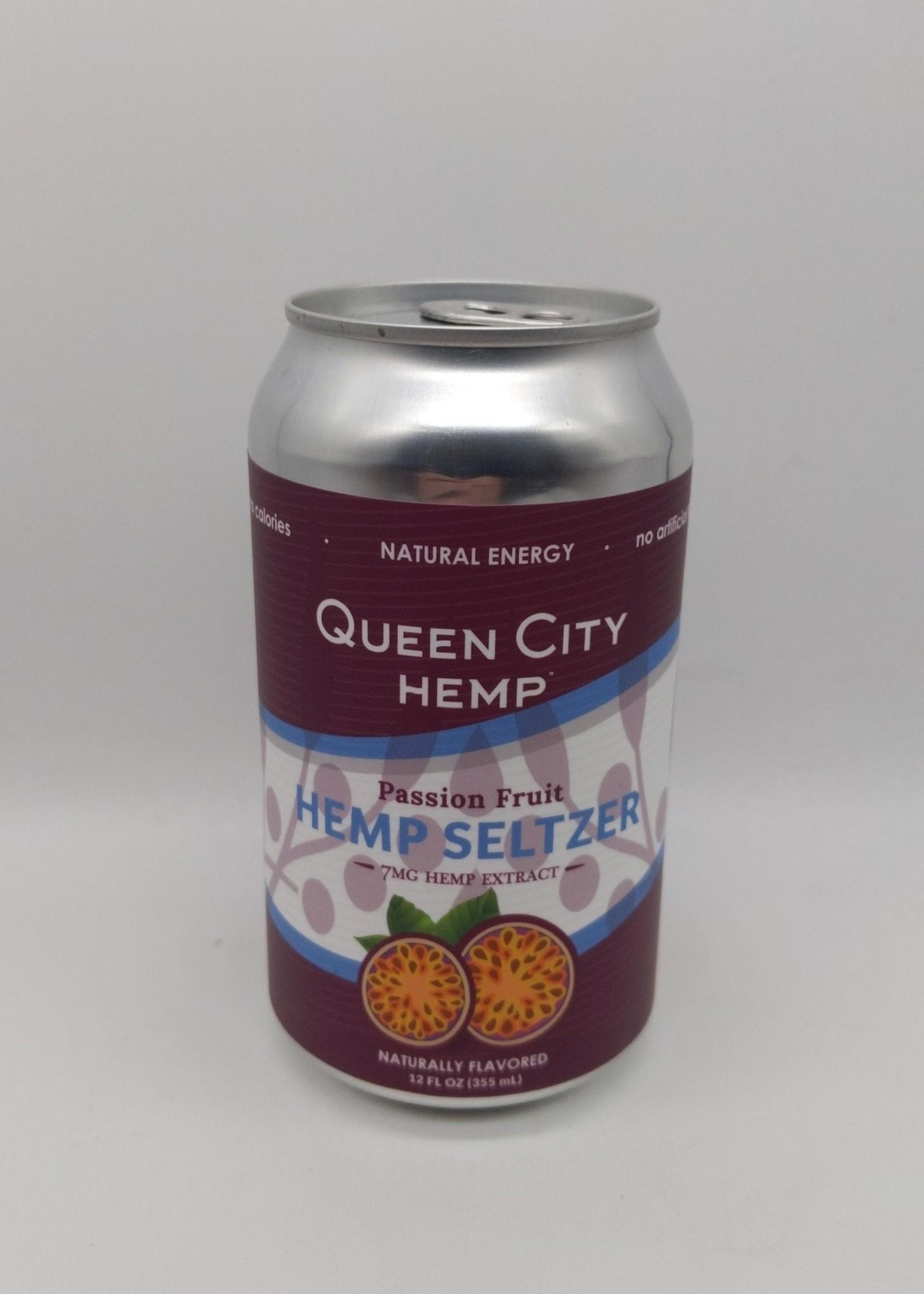 QUEEN CITY HEMP SELTZER PASSION FRUIT 12 oz