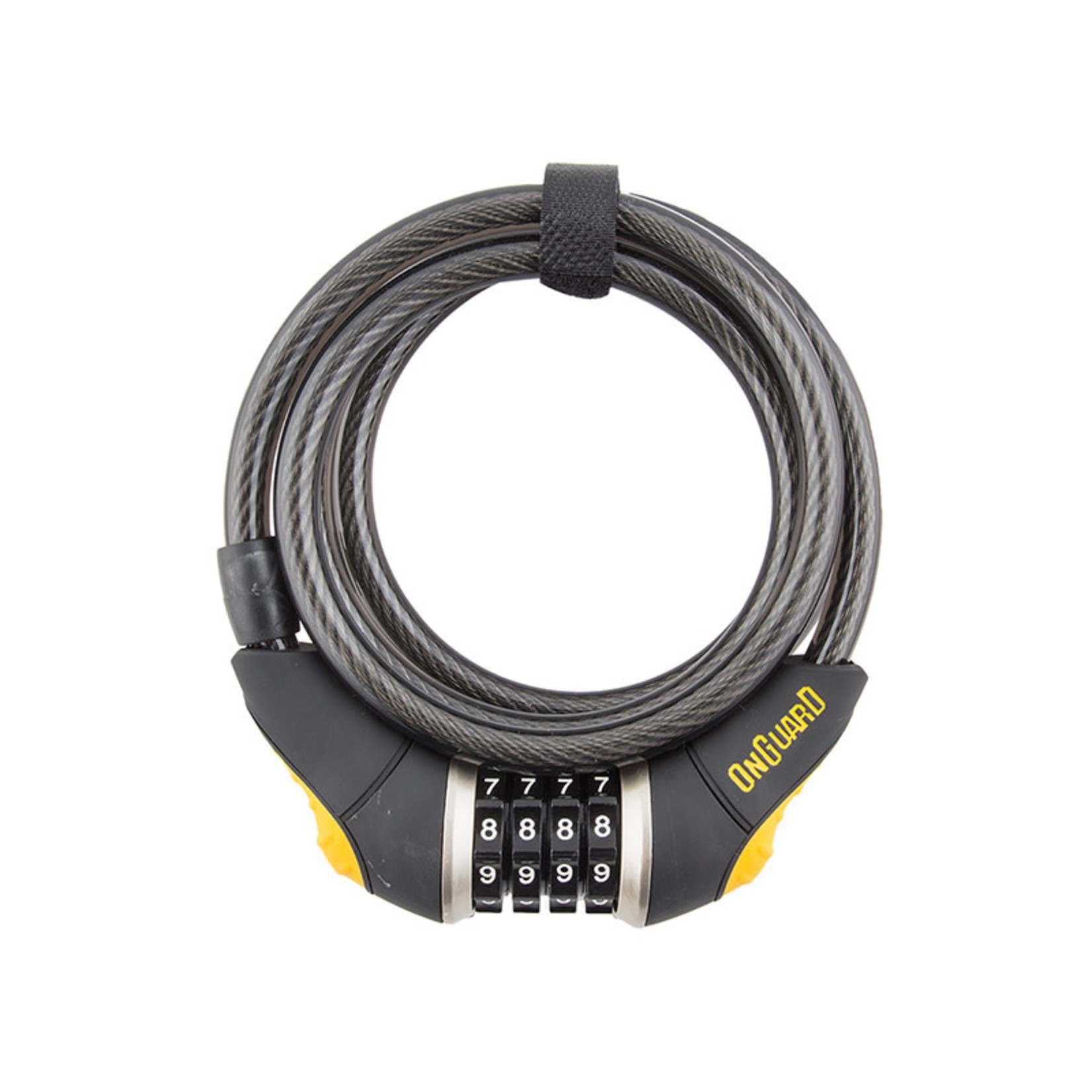 Onguard OnGuard, Doberman 8032, Coil cable with combination lock, 10mm x 185cm (10mm x 6')