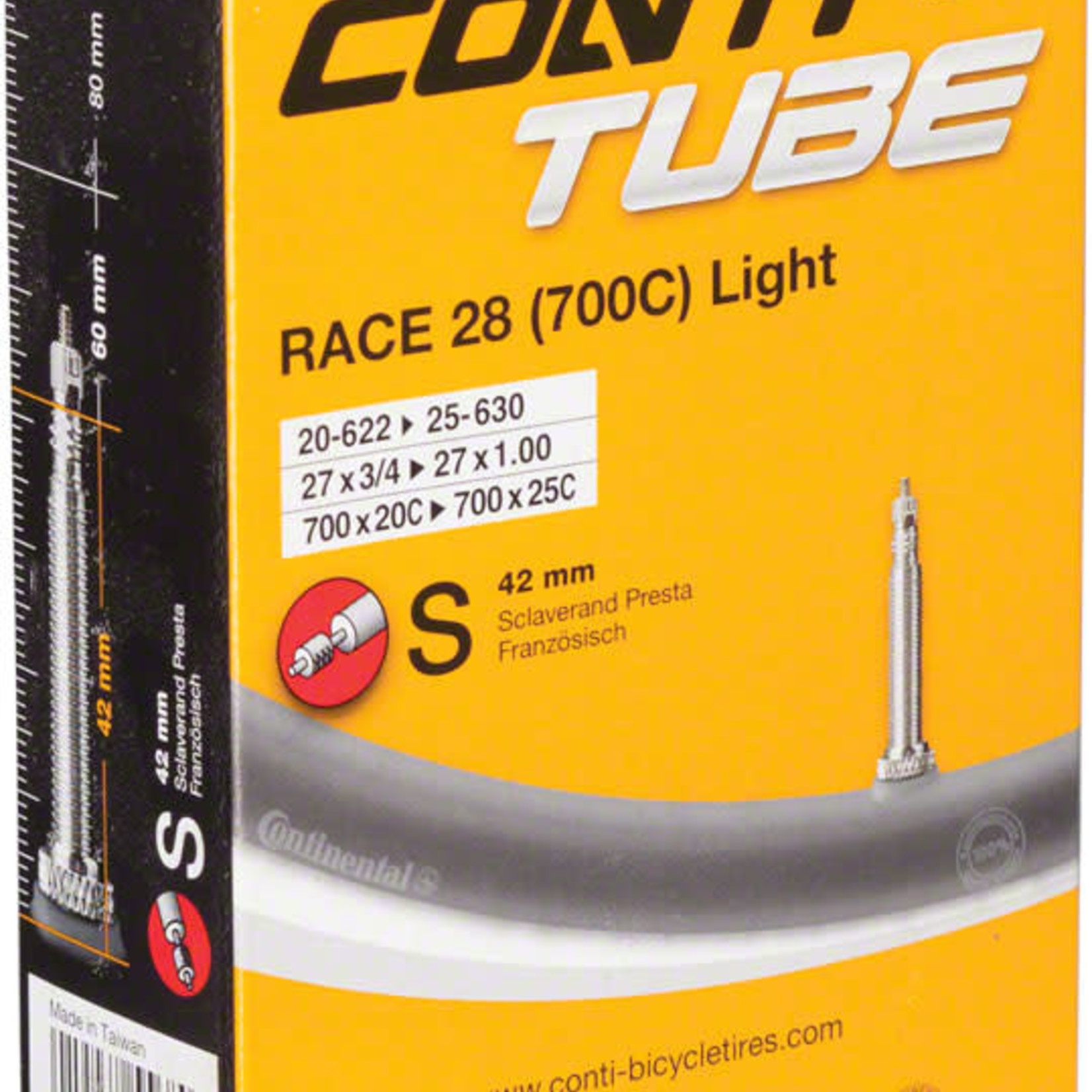 Continental Continental Light 700 x 20-25mm 42mm Presta Valve Tube