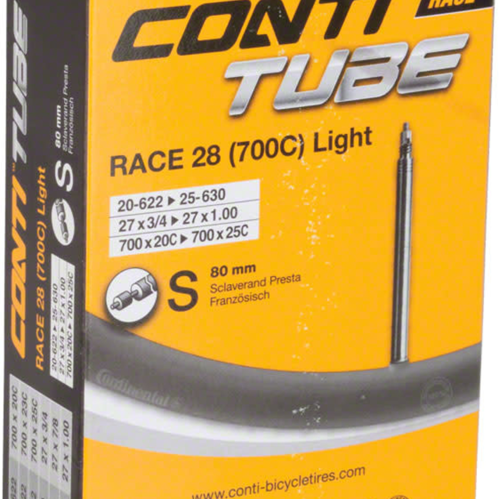 Continental Continental Light 700 x 20-25mm 80mm Presta Valve Tube