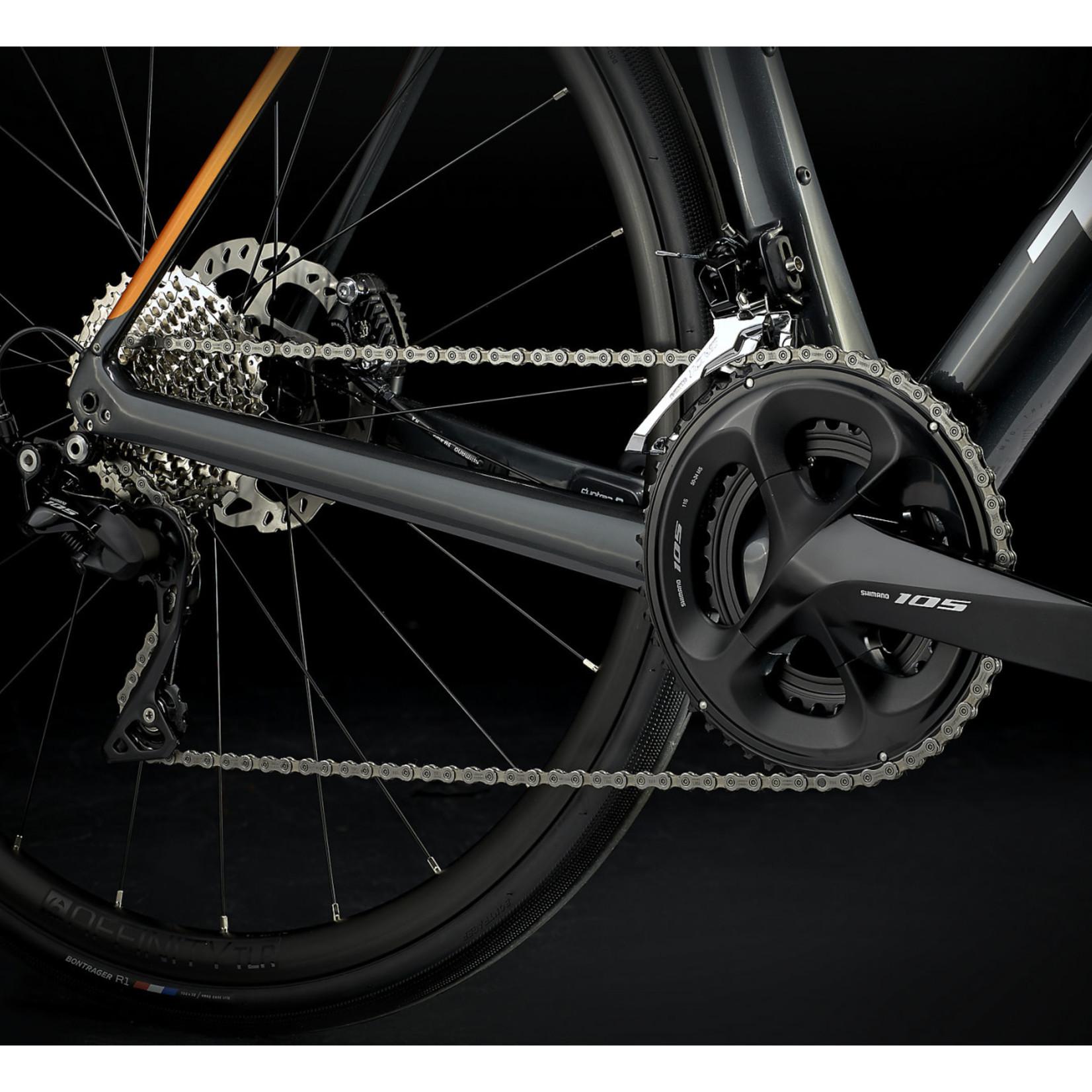 Trek Domane SL 5 Disc 54 Shimano 105 11V Lithium Gray / Factory Orange 2021 Road Bike