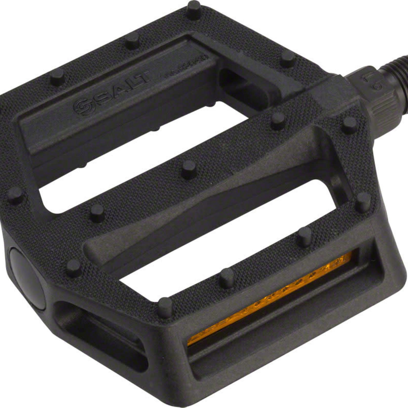 """Salt Salt Junior V2 Pedals - Platform, Composite/Plastic, 9/16"""", Black"""