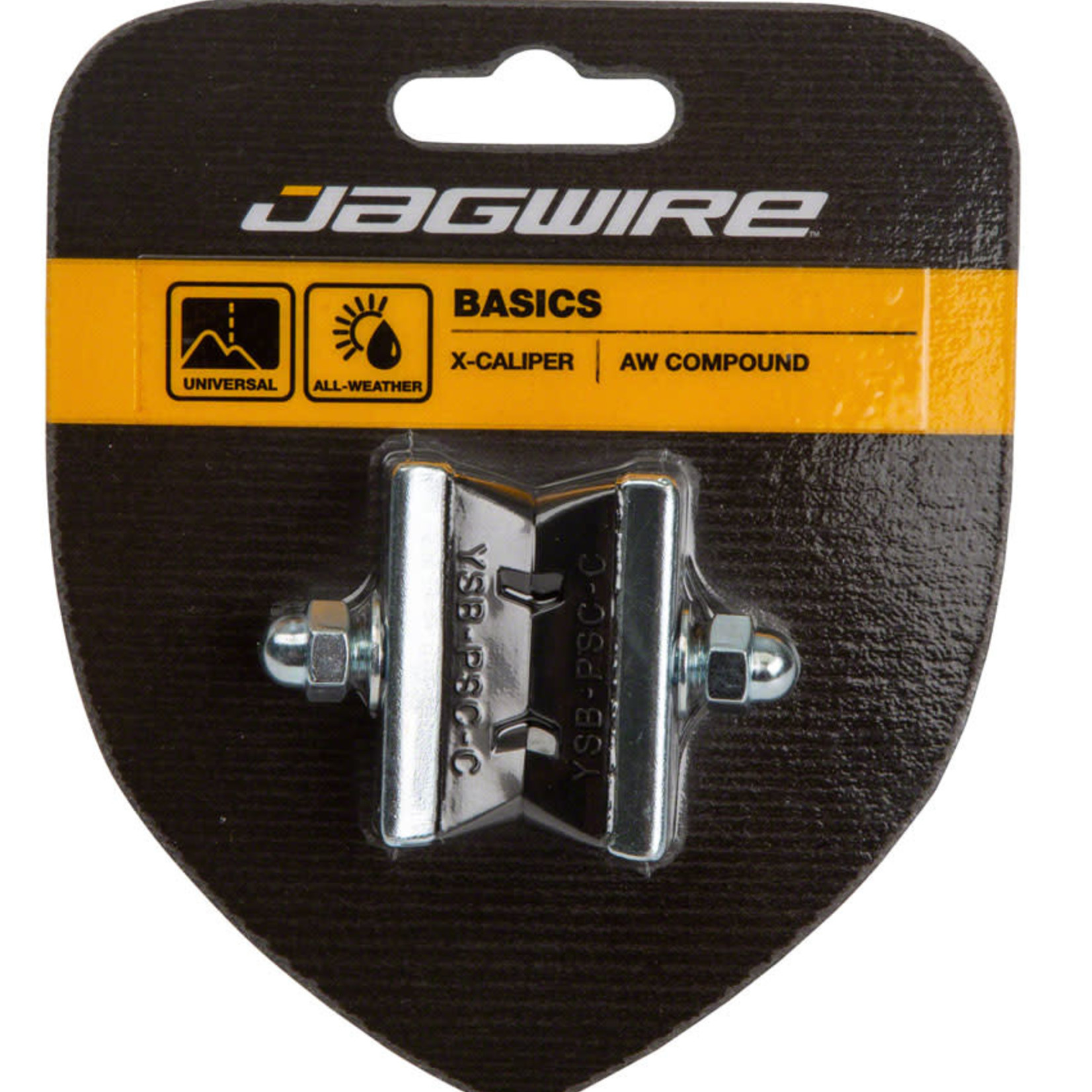 Jagwire Jagwire Basics X-Caliper Brake Pads - Threaded, Black, Pair