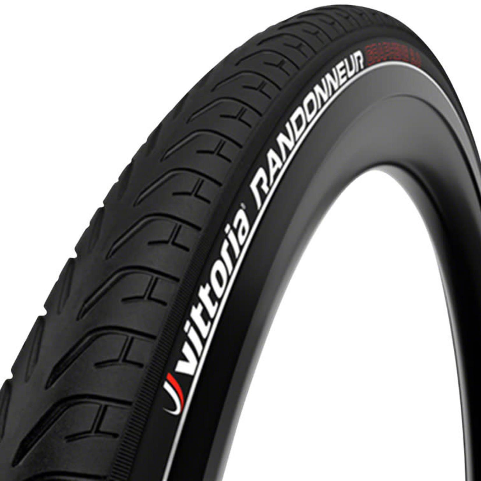 Vittoria Vittoria Randonneur Reflect Tire - 700 x 28, Clincher, Wire, Black