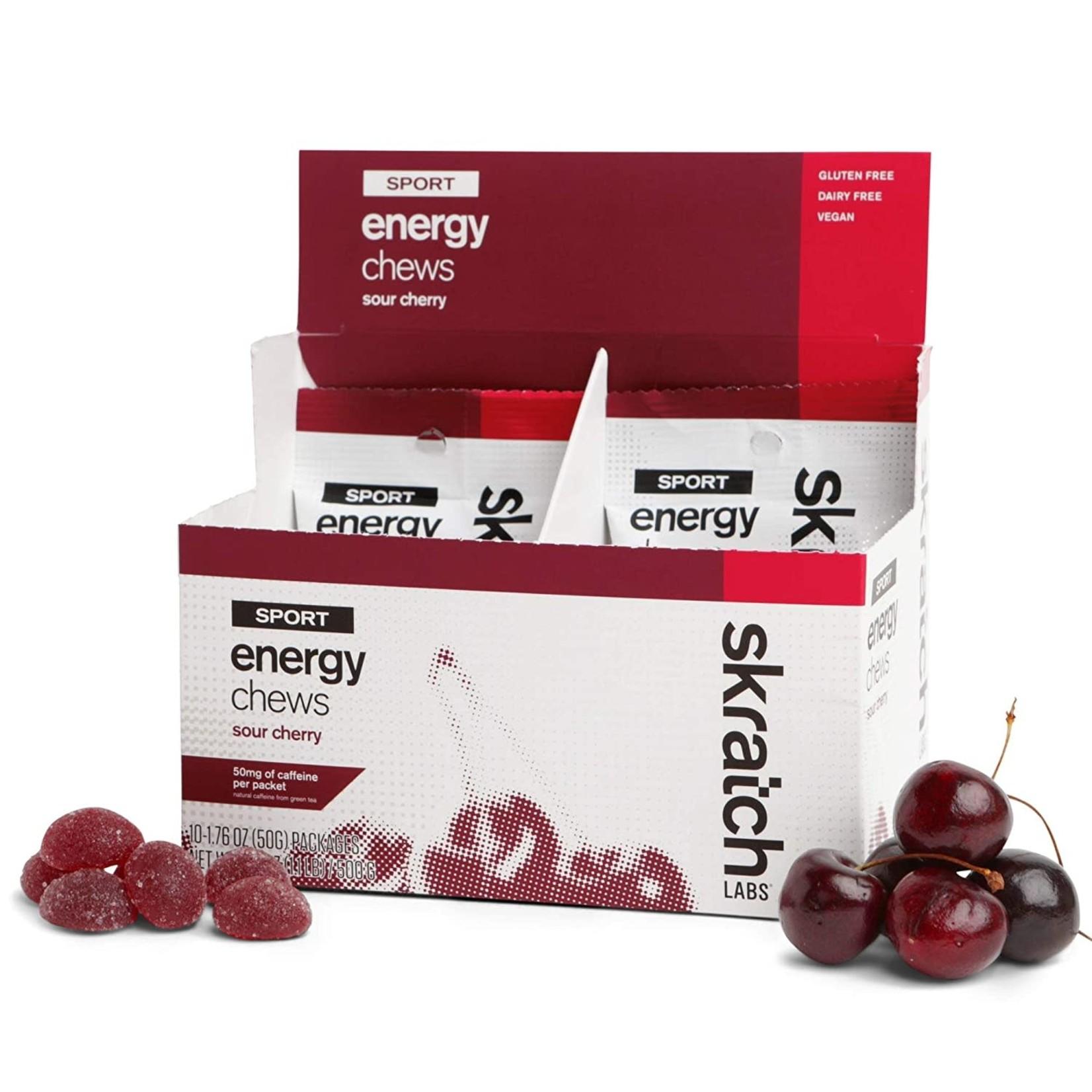Skratch Labs Skratch Labs Sport Energy Chews - Caffeinated Sour Cherry