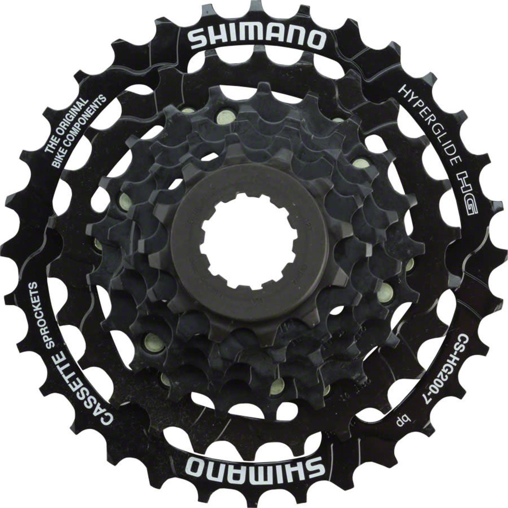 Shimano Shimano Tourney CS-HG200 Cassette - 7 Speed, 12-32t, Black