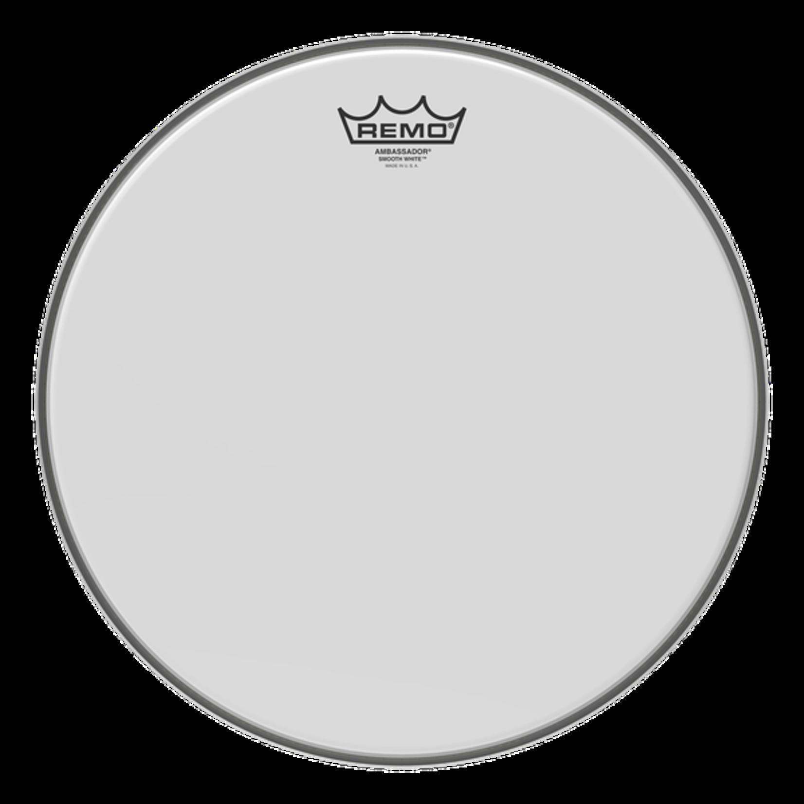 Remo Remo Smooth White Ambassador Bass Drum