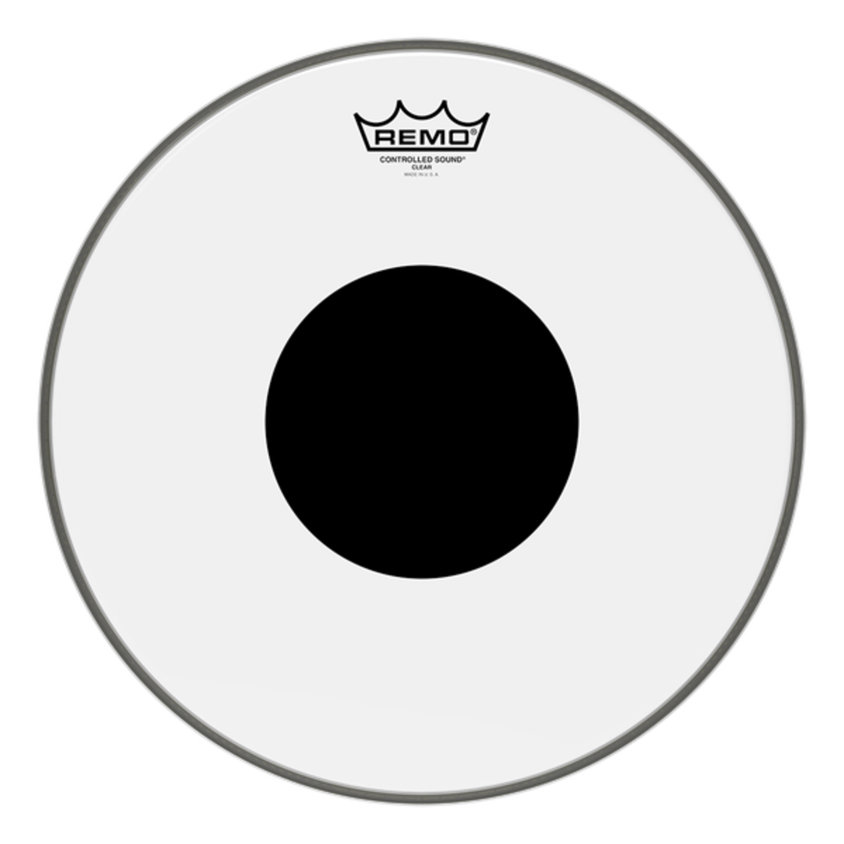 Remo Remo Smooth White Controlled Sound Black Dot on Top Bass Drum