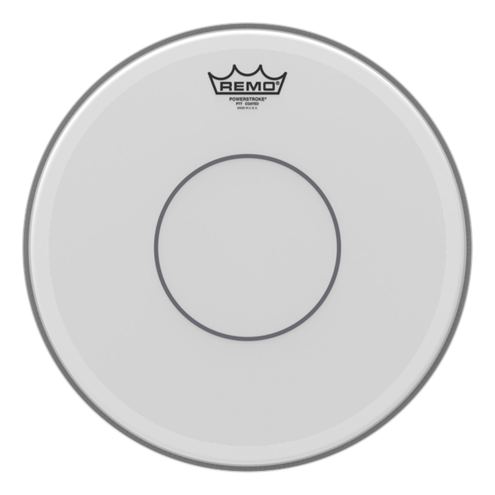 Remo Remo Coated Powerstroke 77 w/ Clear Dot