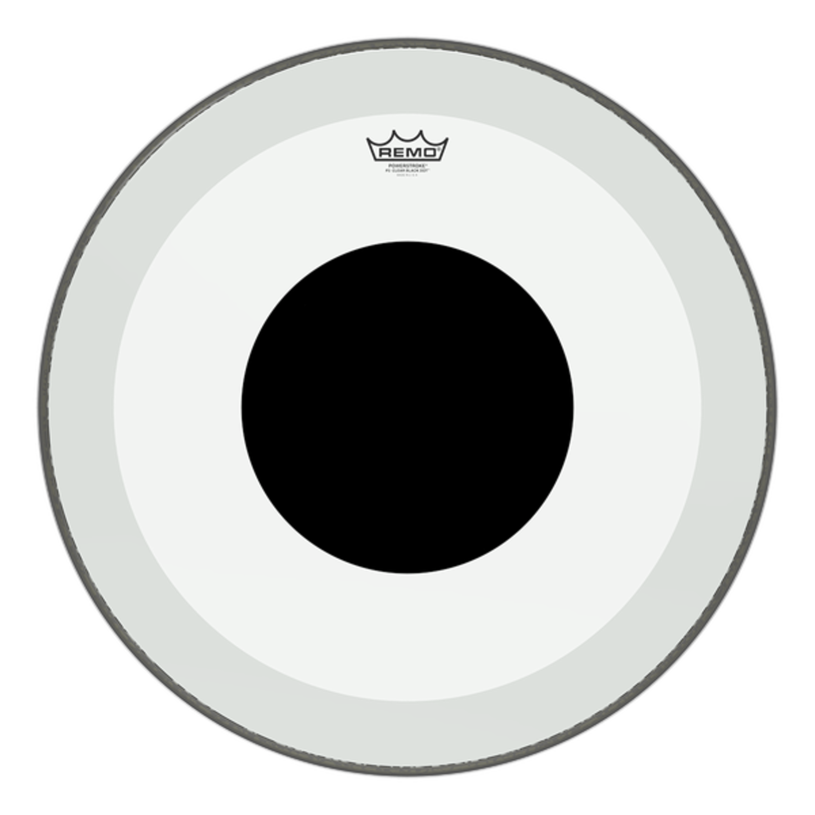 Remo Remo Clear Powerstroke 3 w/ Black Dot Bass Drum