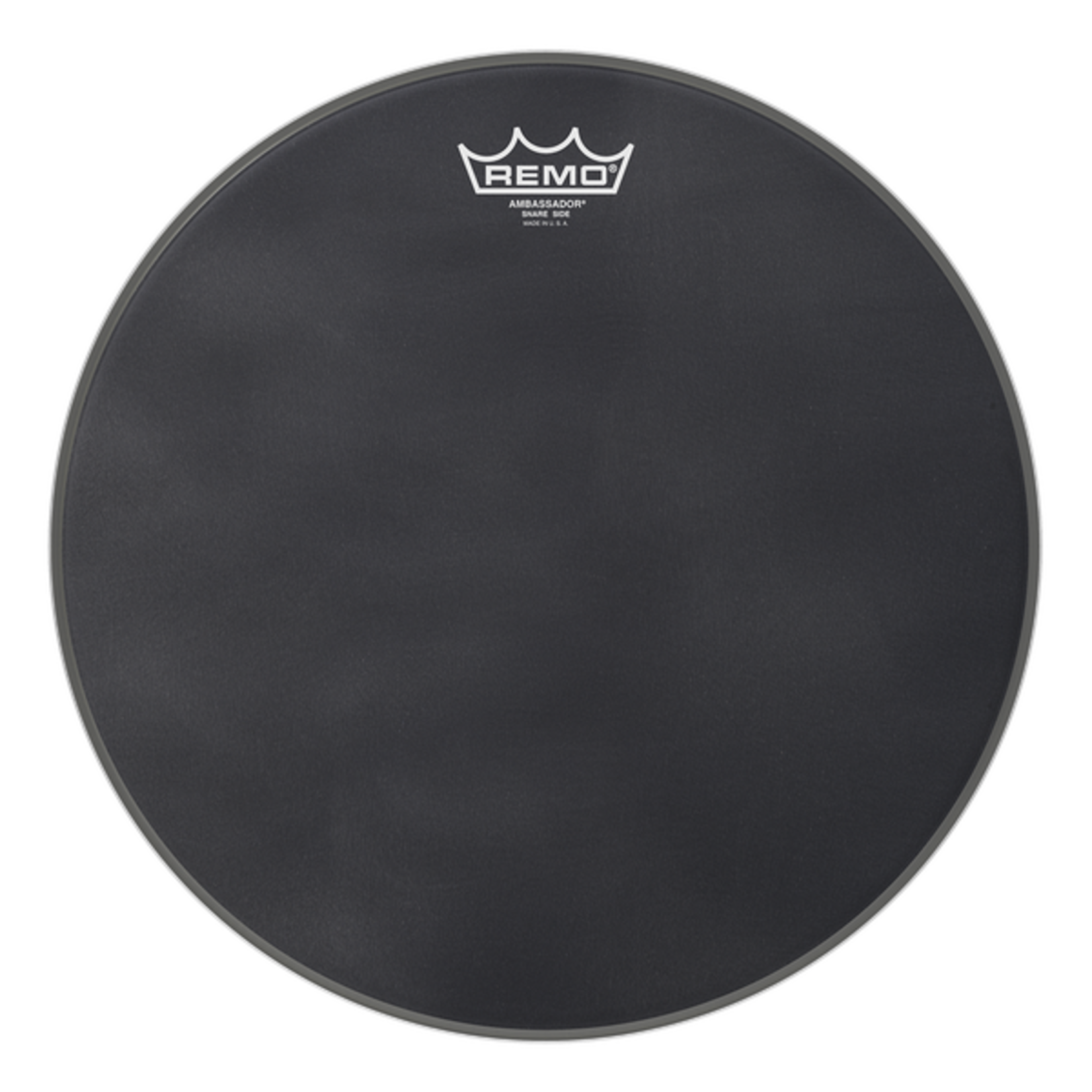 Remo Remo Black Suede Ambassador Snare Side