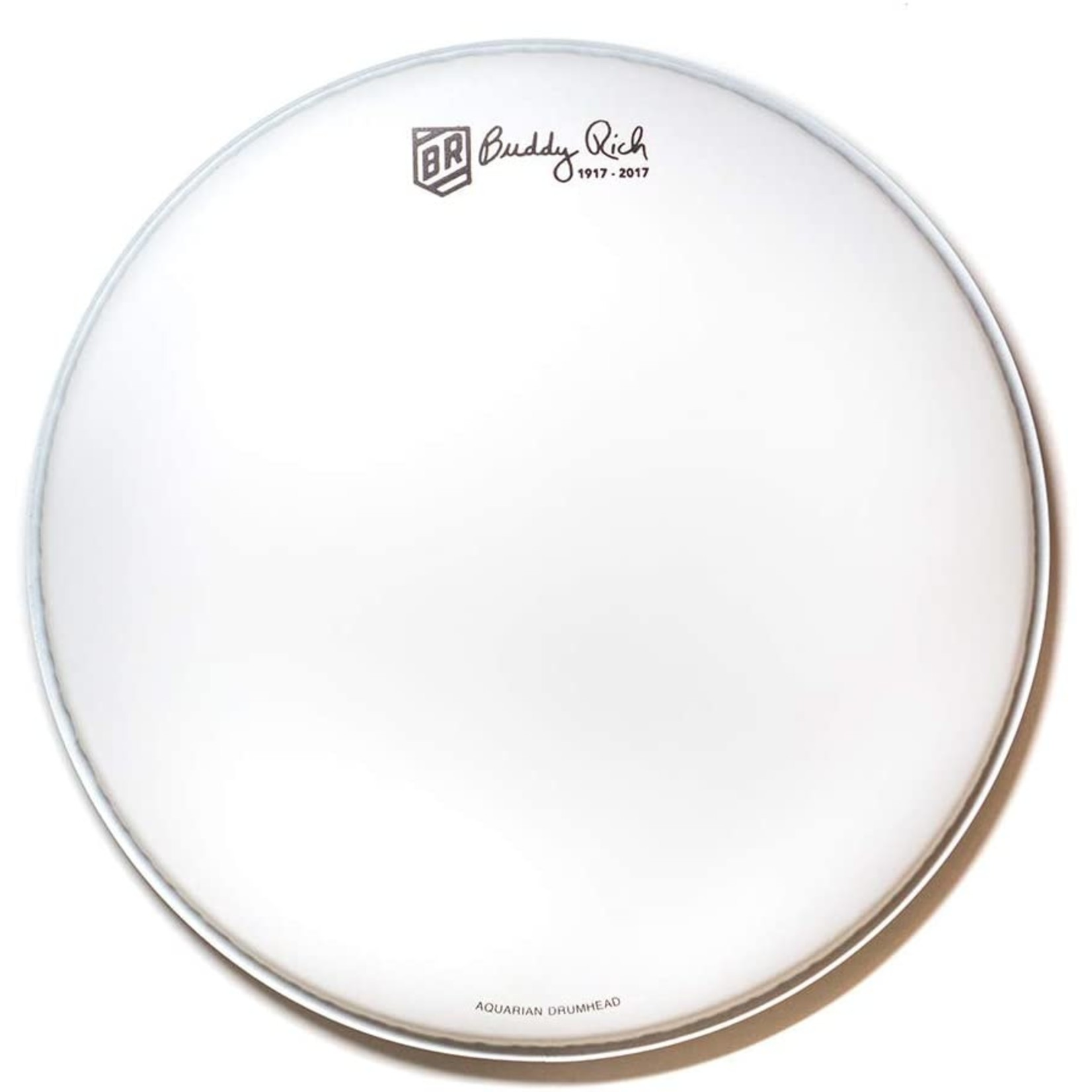 """Aquarian Aquarian Buddy Rich White Vintage Coated Signature Snare Drum Batter 14"""""""