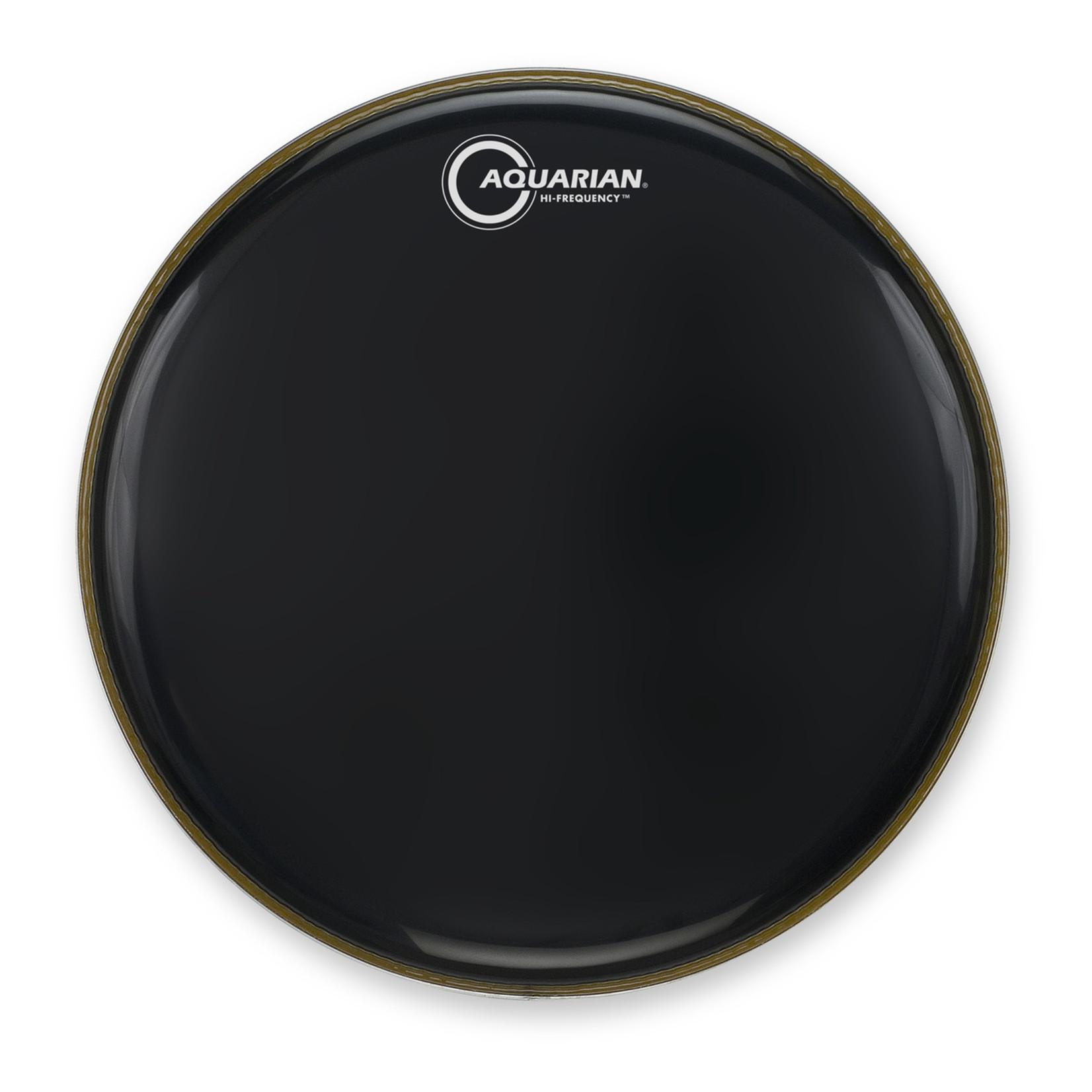 Aquarian Aquarian Hi-Frequency Black Video Gloss Bass Drum