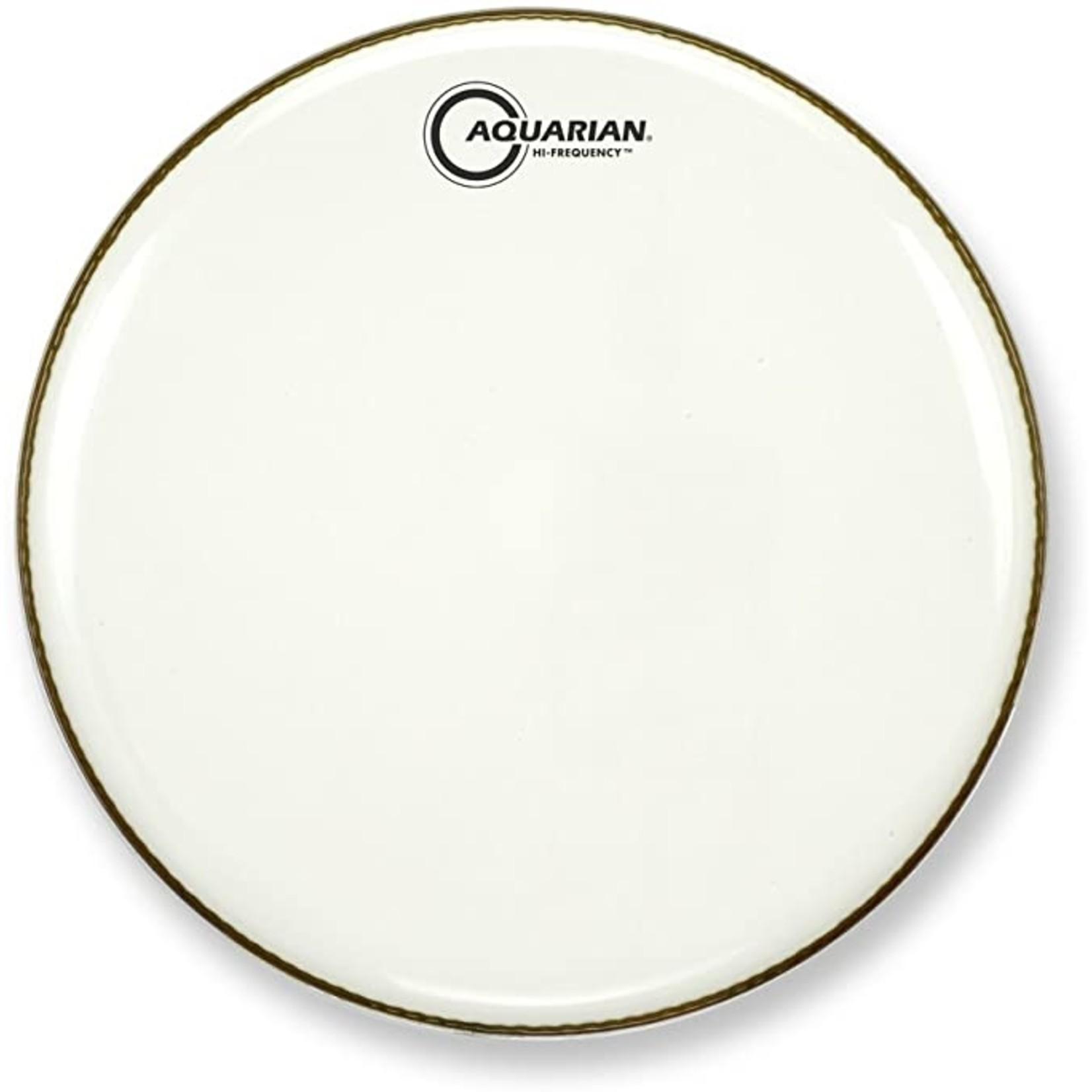 Aquarian Aquarian Hi-Frequency White Video Gloss Bass Drum