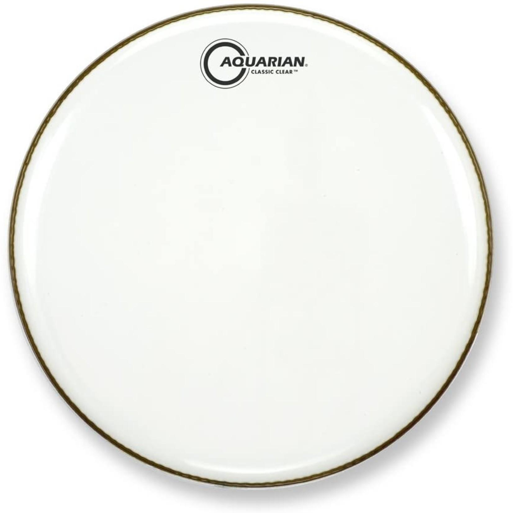 Aquarian Aquarian Classic Clear White Video Gloss Bass Drum