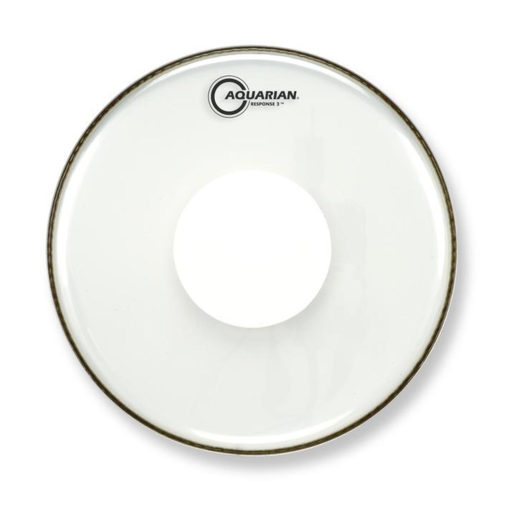 Aquarian Aquarian Response 2 Clear w/ Power Dot Bass Drum