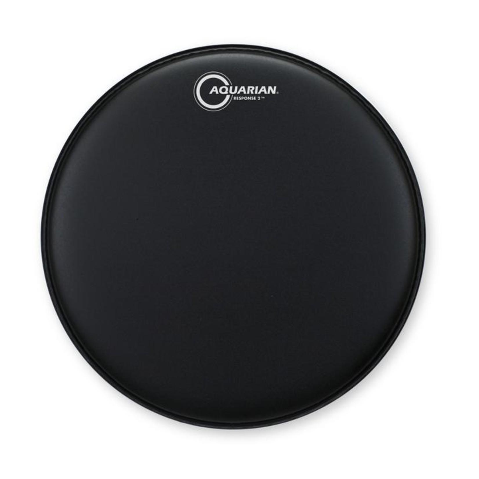 Aquarian Aquarian Response 2 Black Texture Coated Bass Drum