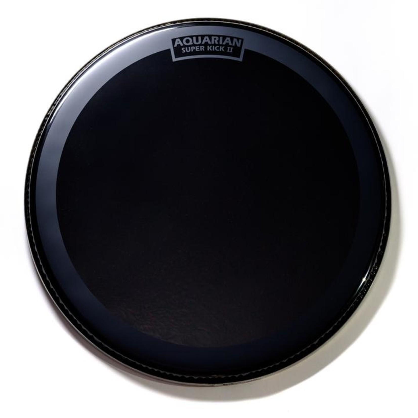Aquarian Aquarian Reflector Black Mirror w/ Super Kick Ring Bass Drum