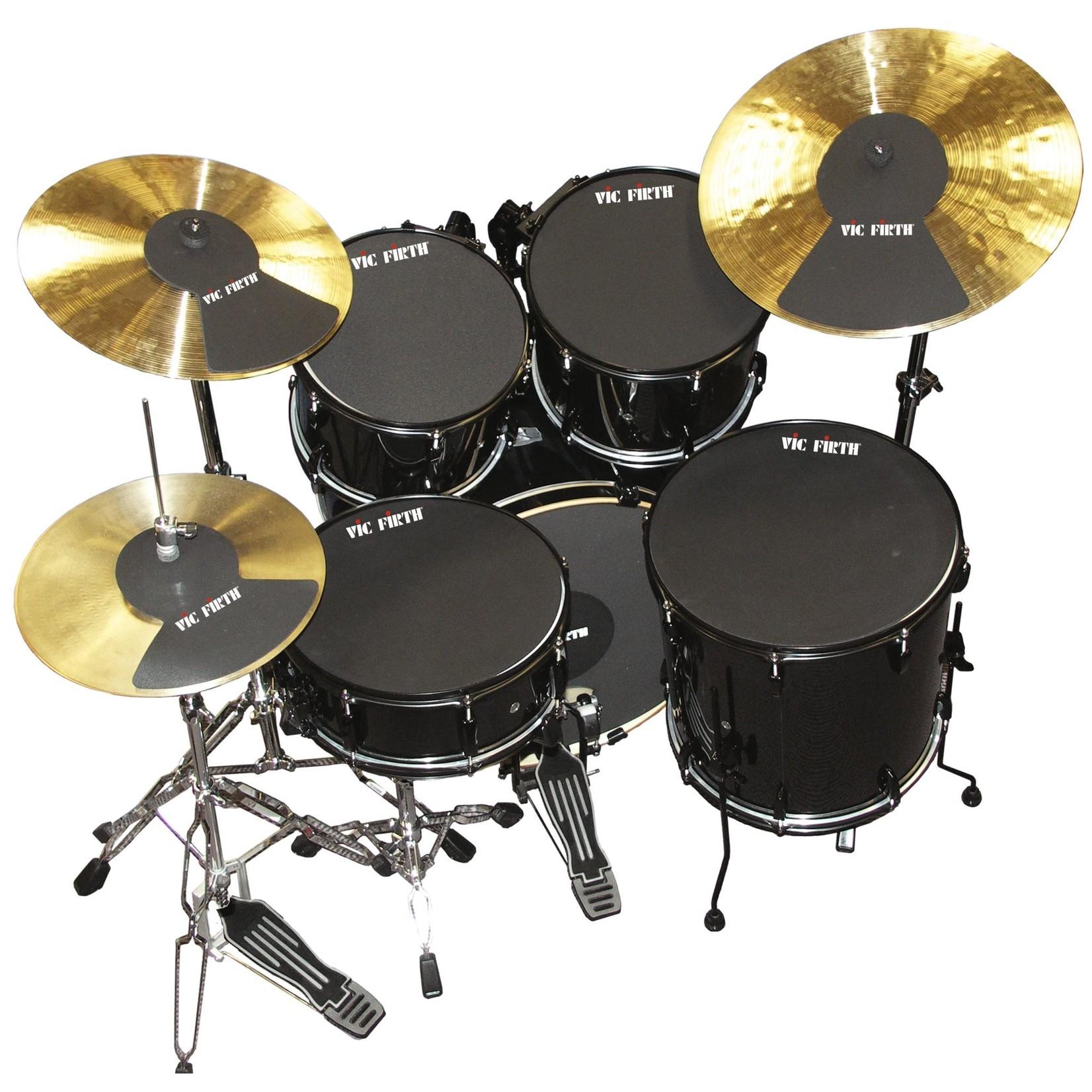 """Vic Firth Vic Firth Mute Prepack w/ 10"""", 12"""", 14""""(2), 22, Hi-Hat And Cymbal (2)"""