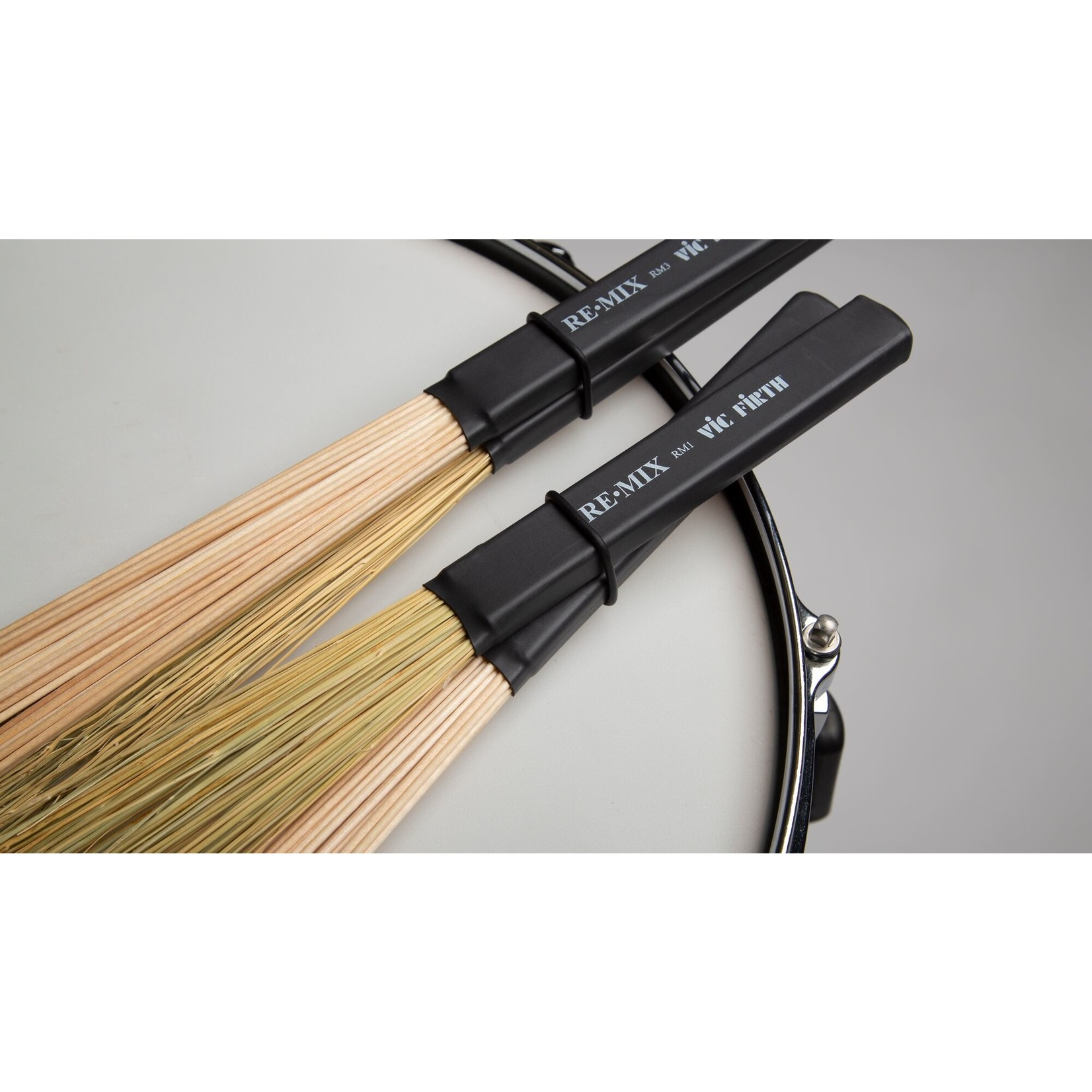Vic Firth Vic Firth RE.MIX Brushes, 2-pair combo pack (Grass & Birch)