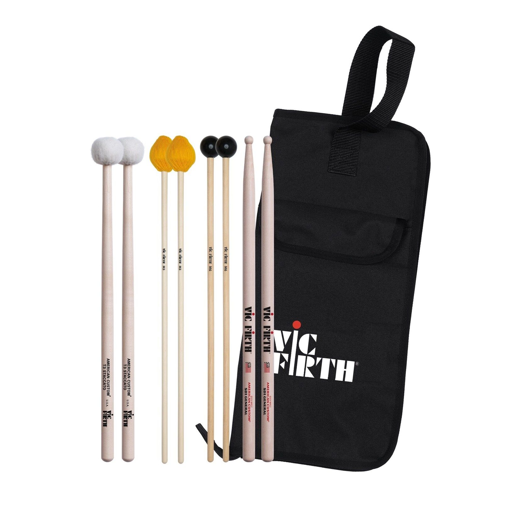 Vic Firth Vic Firth Intermediate Education Pack (includes SD1, M3, M6, T3, BSB)