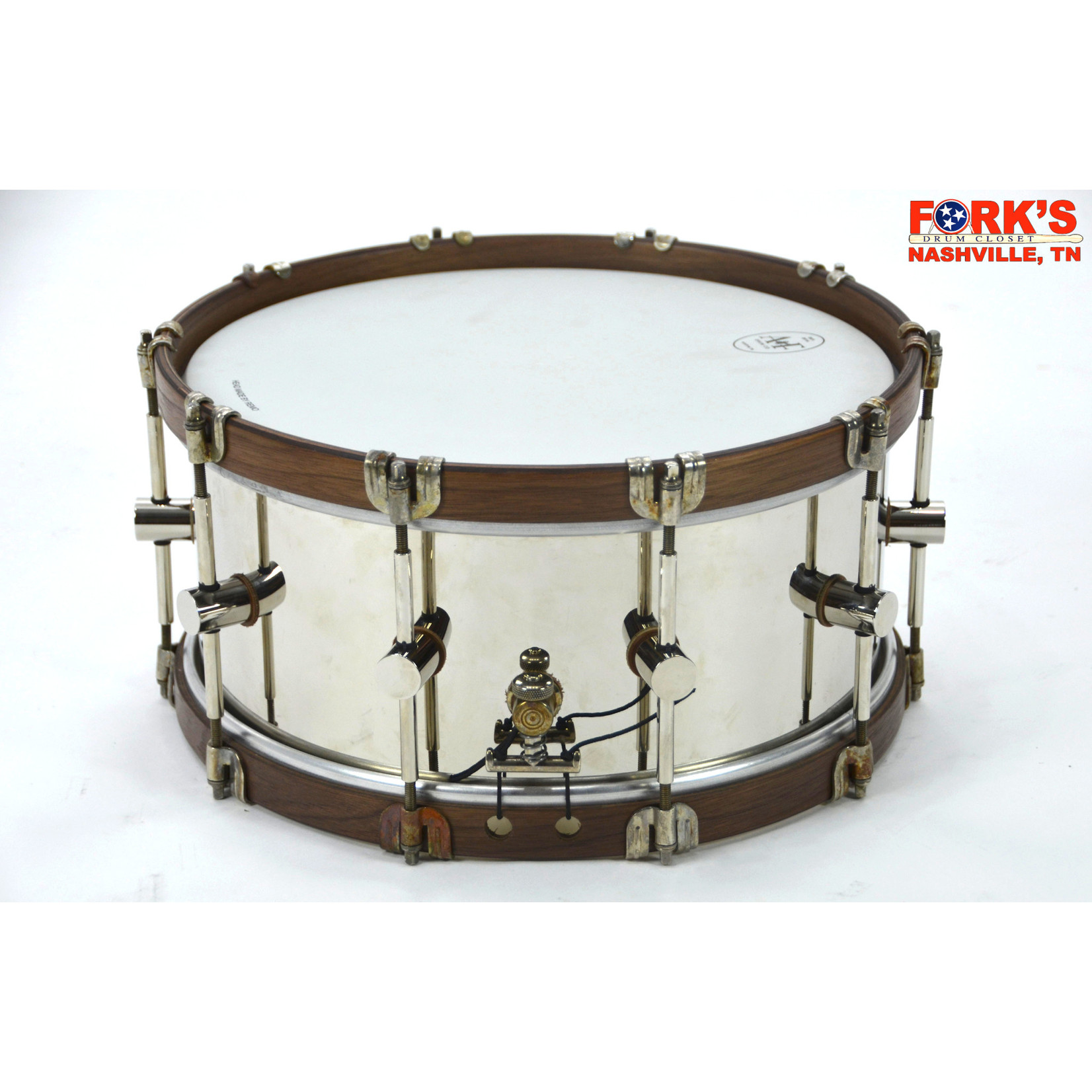 A&F A&F 6.5x14  Nickel over Brass w/ wood hoops