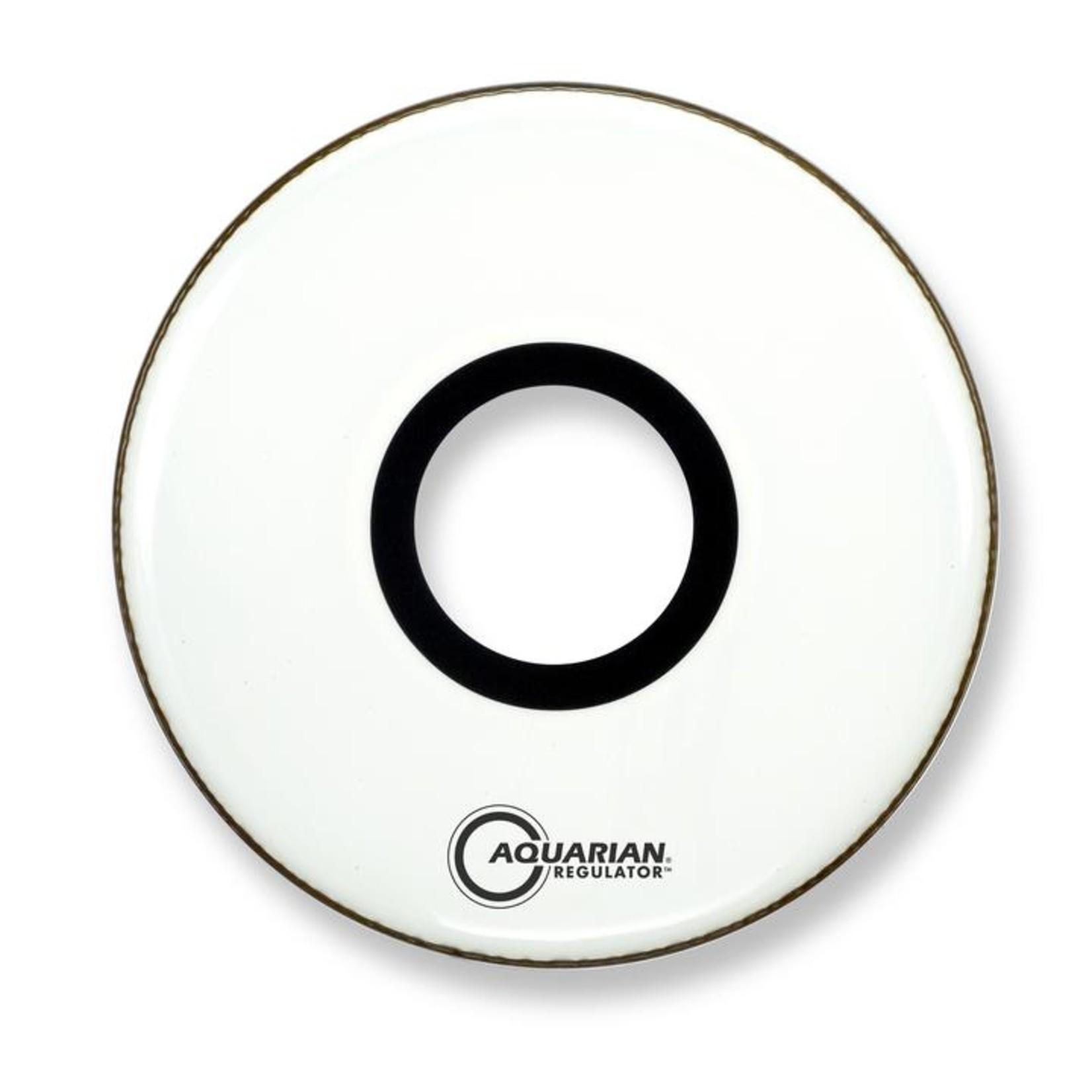 "Aquarian Aquarian Regulator White Video Gloss Bass Drum w/ 7"" Center Hole"
