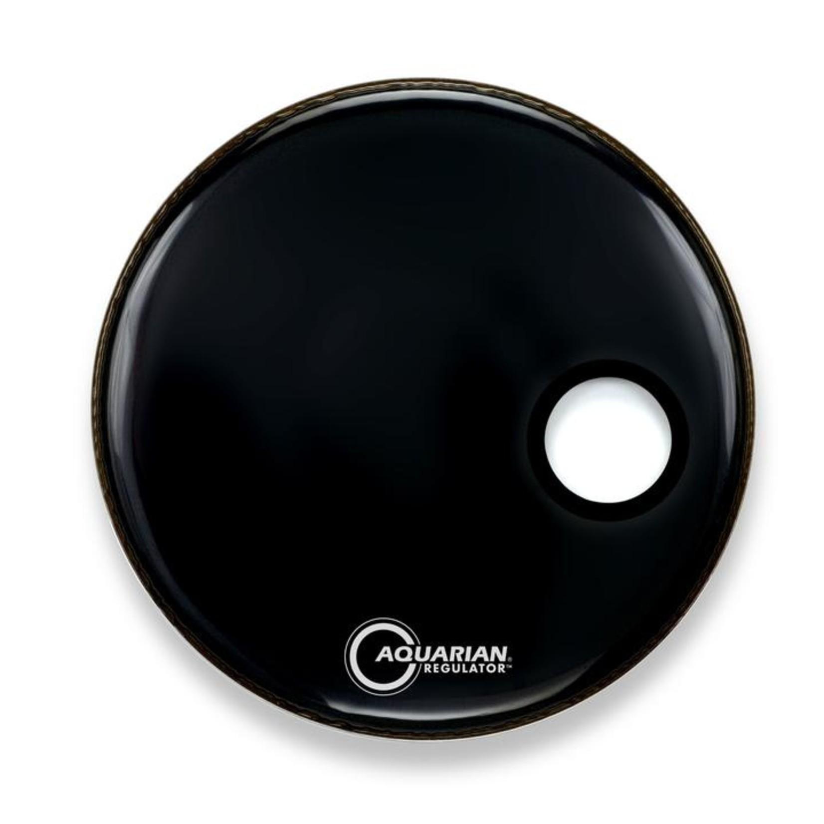 "Aquarian Aquarian Regulator Black Video Gloss Bass Drum w/ 4.75"" Offset Hole"