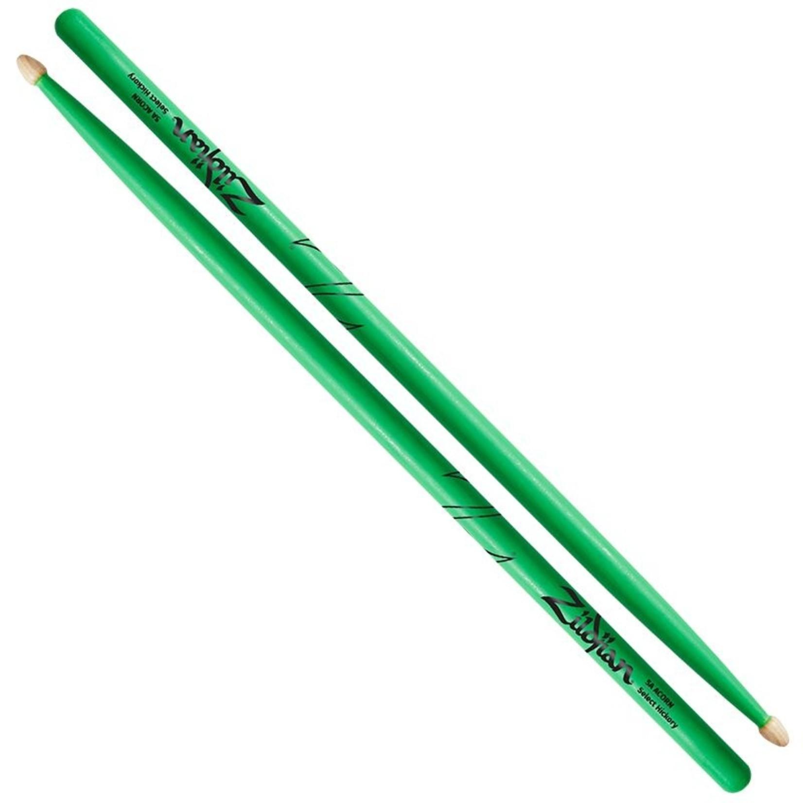 Zildjian Zildjian 5A Acorn Neon Green Drumsticks