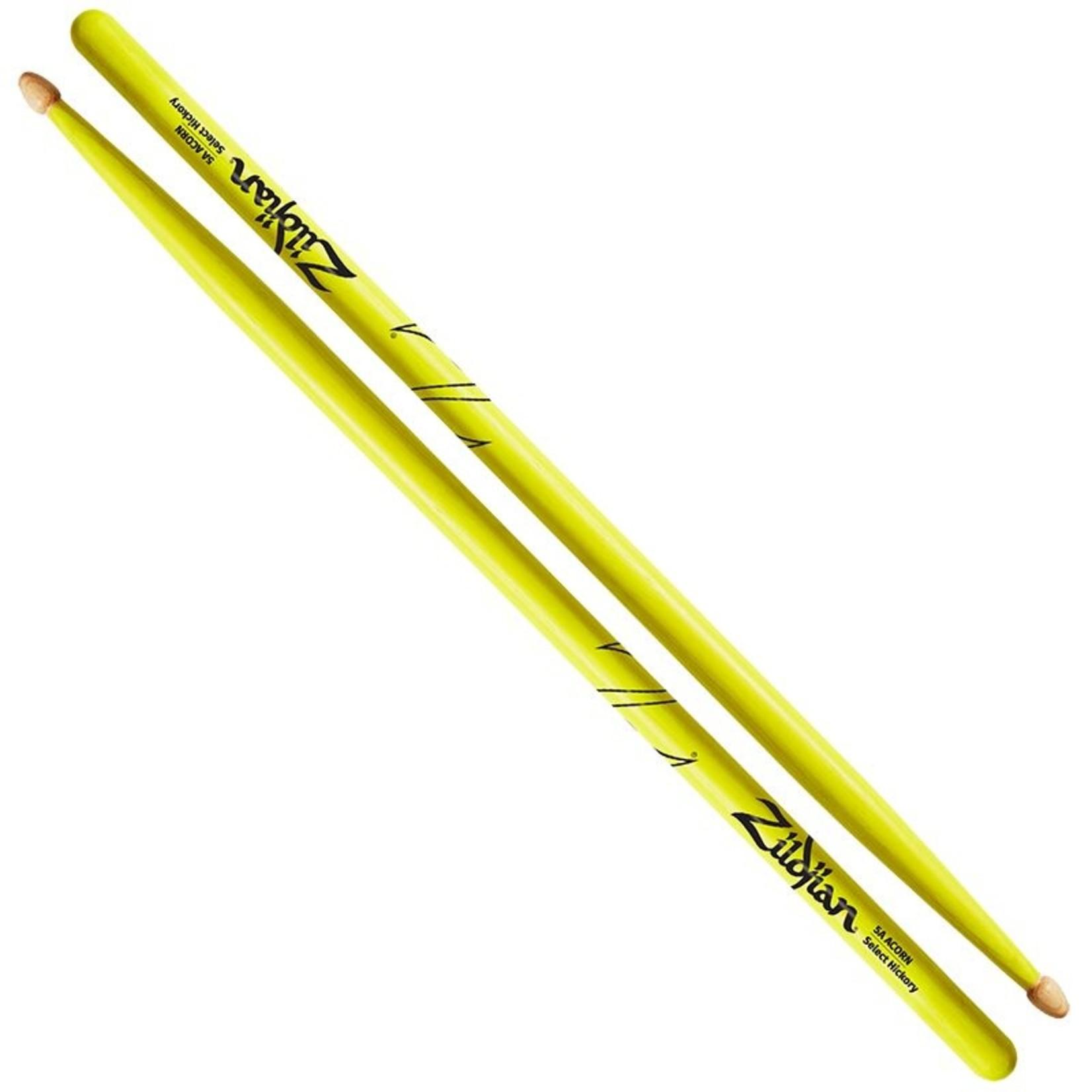 Zildjian Zildjian 5A Acorn Neon Yellow Drumsticks