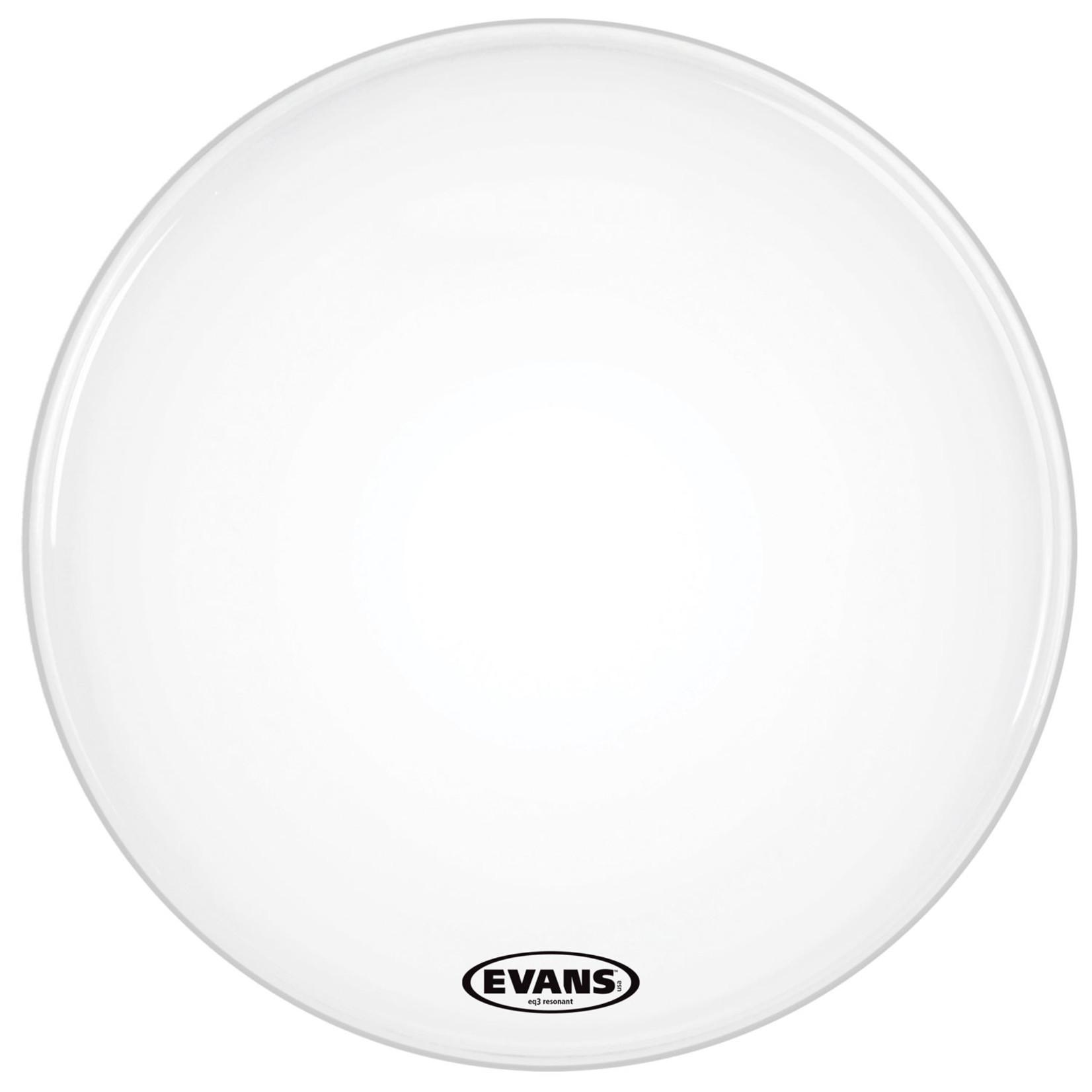"Evans Evans Smooth White EQ3 Tom Reso No Port 16"""