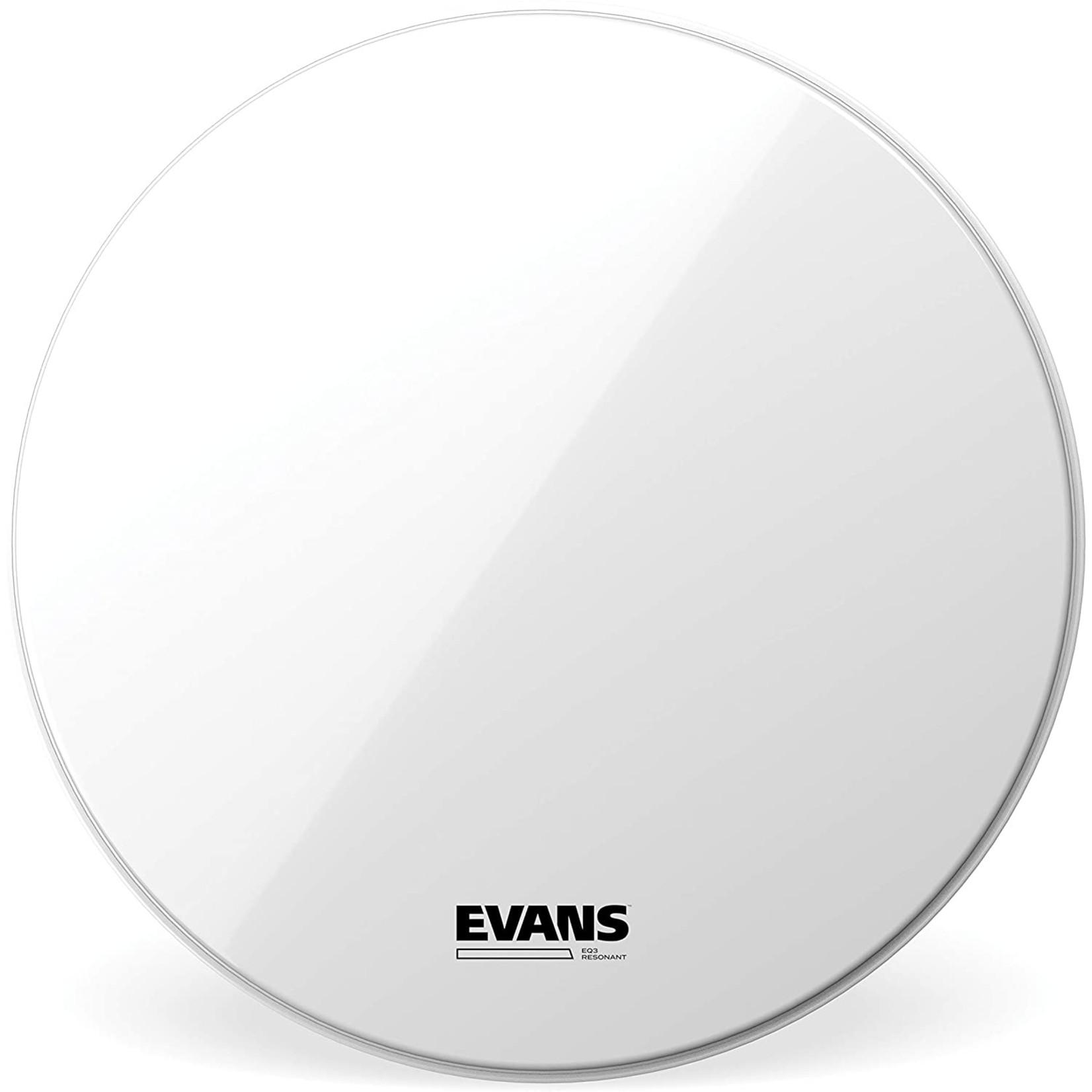 Evans Evans Smooth White EQ3 Bass Drum Reso no Port
