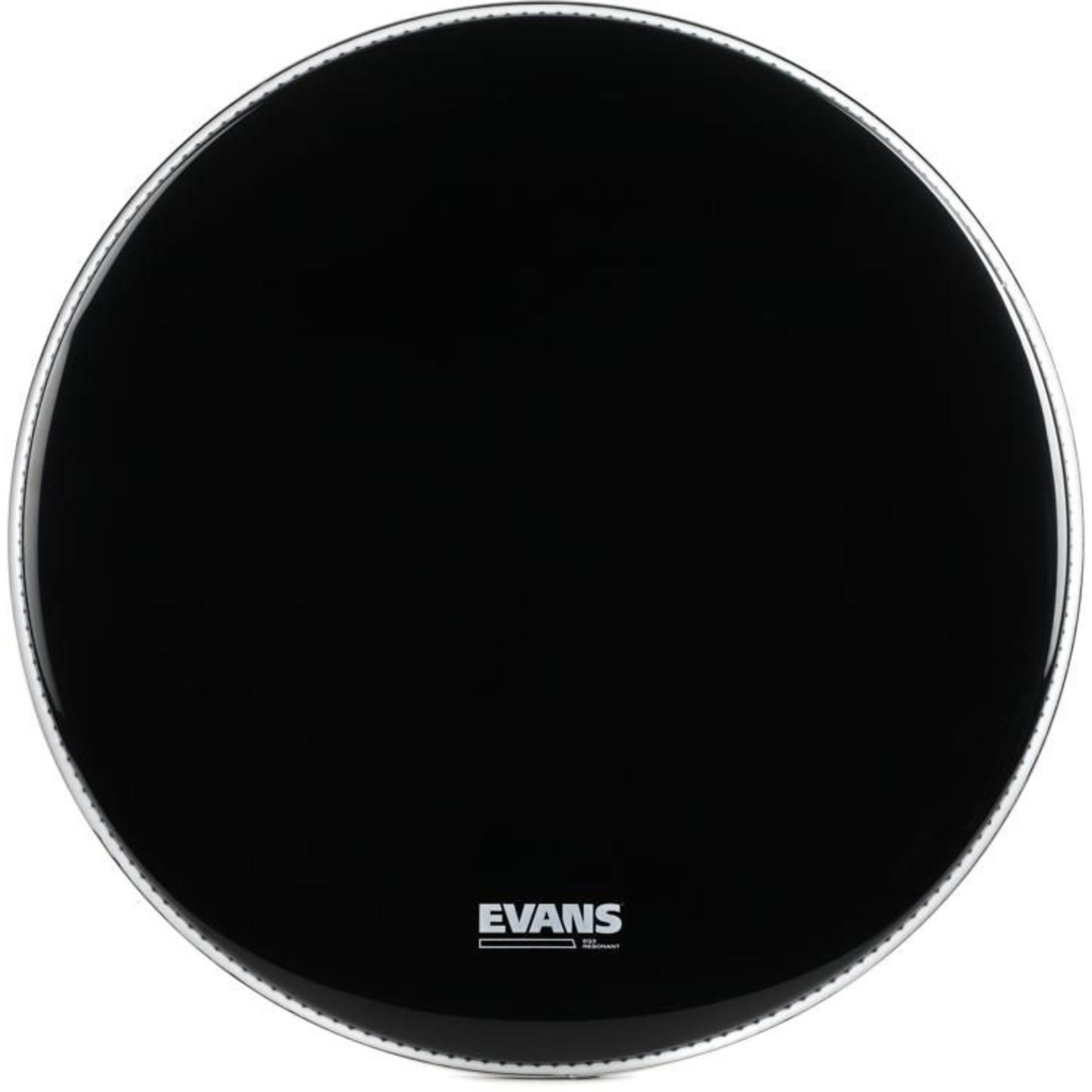 Evans Evans Black EQ3 Bass Drum Reso no Port